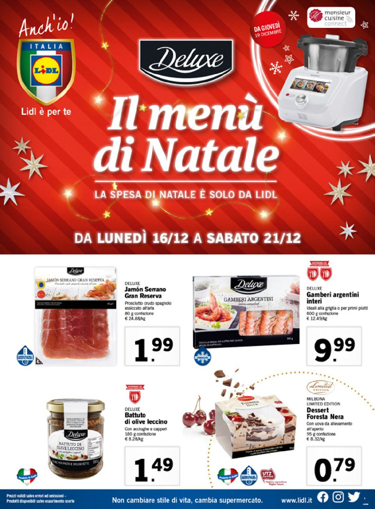 Volantino Il volantino natalizio di Lidl - Offerte 16/12-21/12/2019