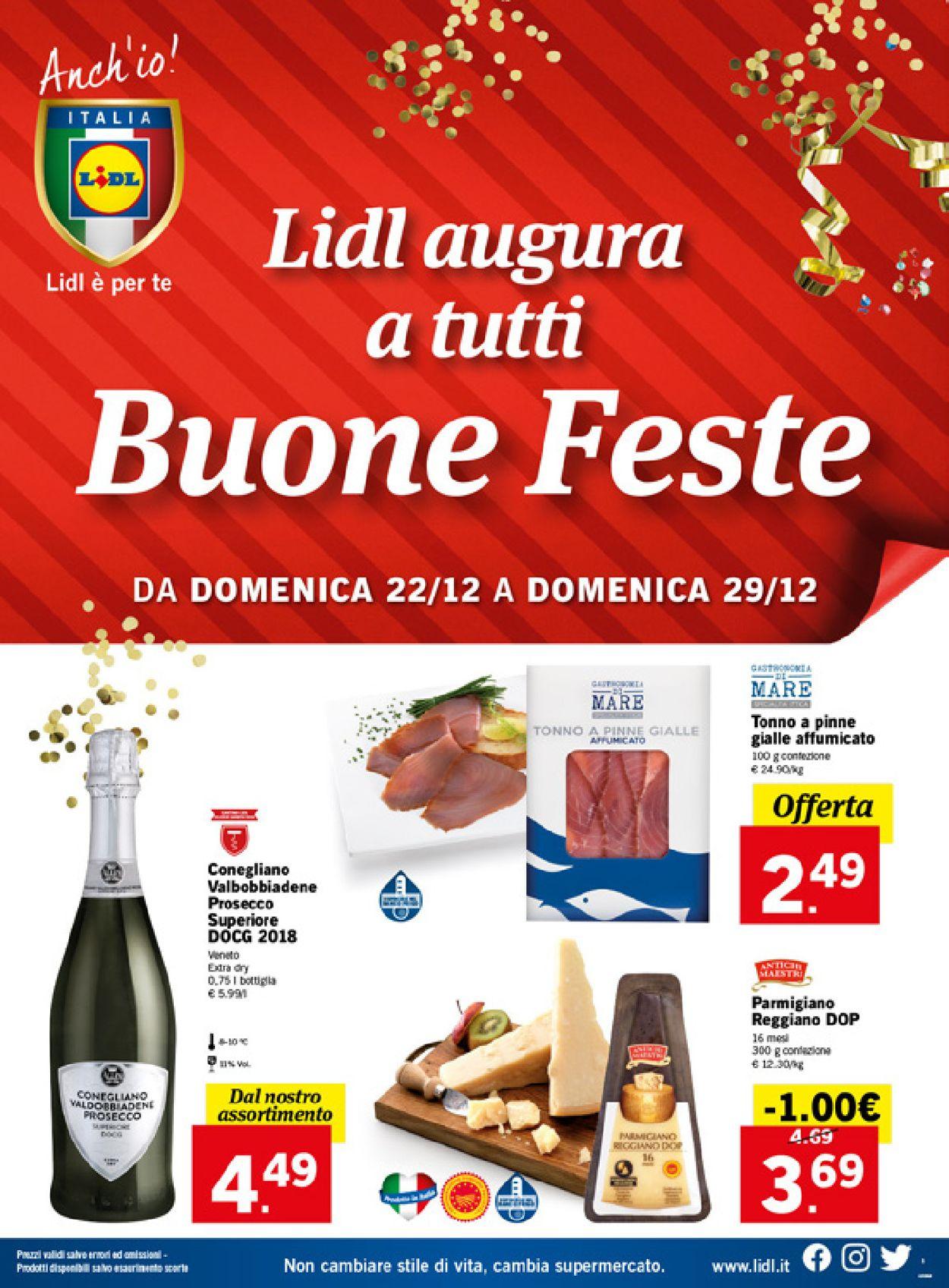 Volantino Il volantino natalizio di Lidl - Offerte 22/12-29/12/2019