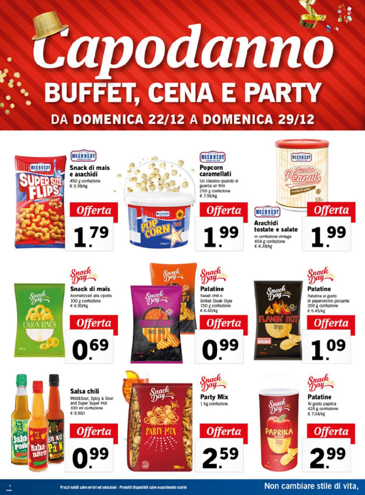 Volantino Il volantino natalizio di Lidl - Offerte 22/12-29/12/2019 (Pagina 4)