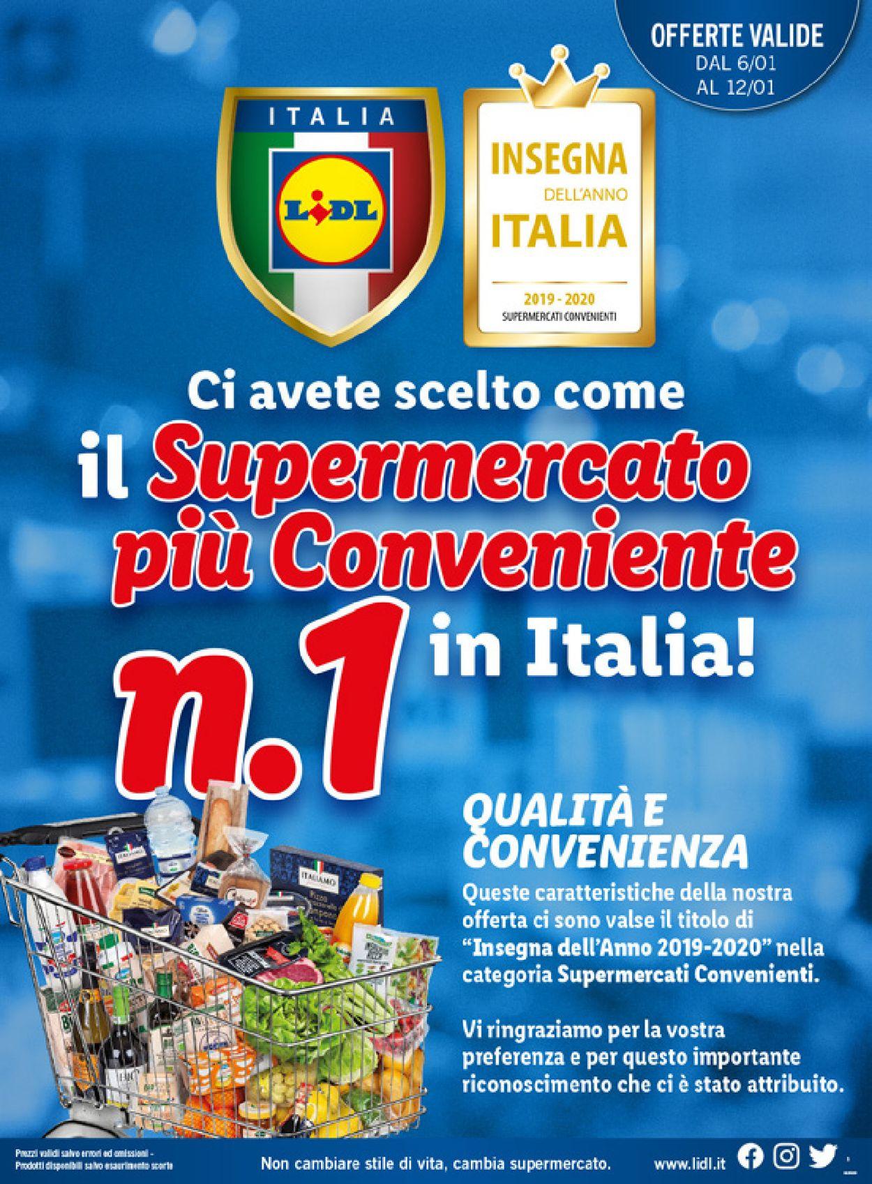Volantino Lidl - Offerte 06/01-12/01/2020