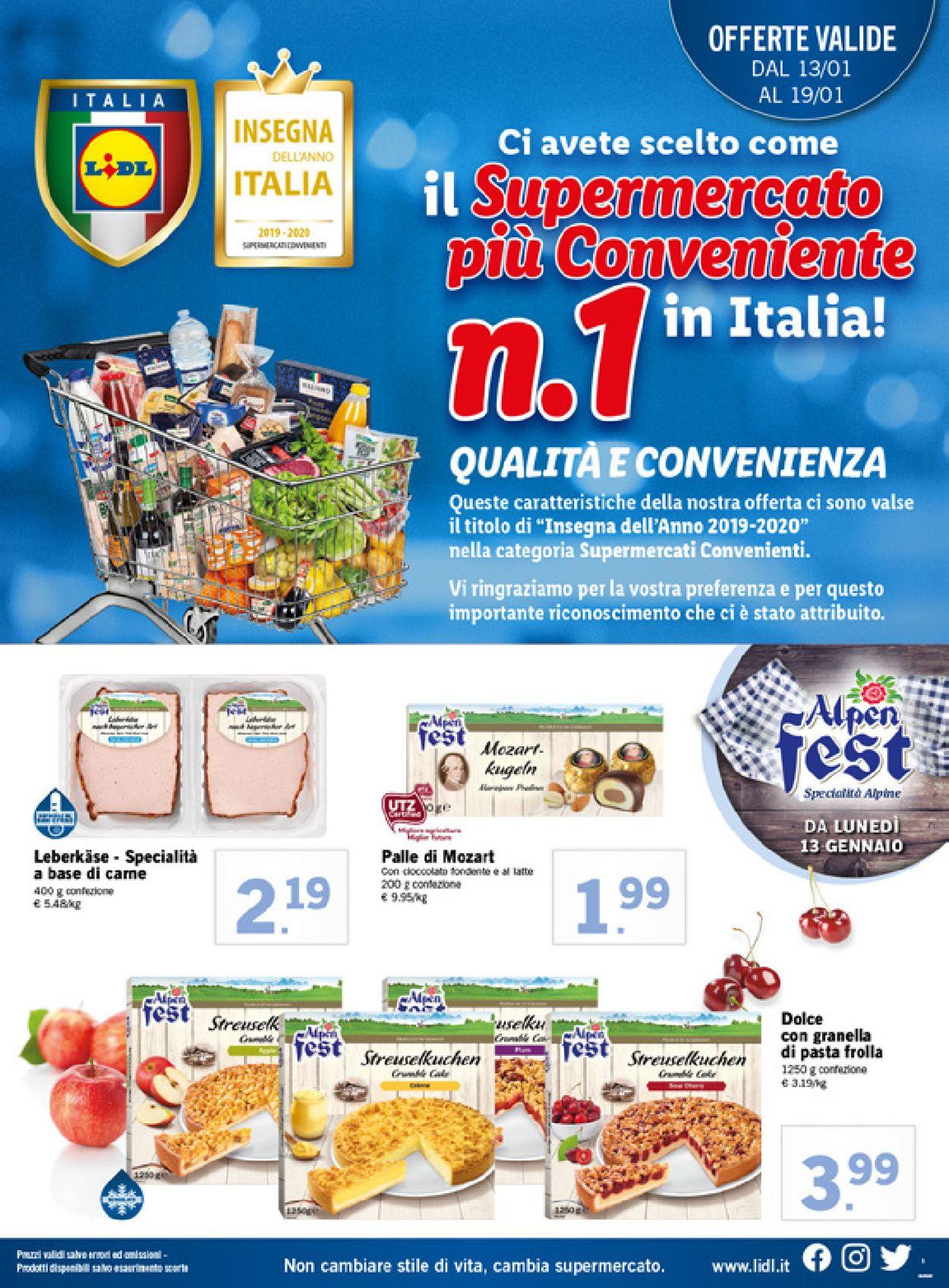 Volantino Lidl - Offerte 13/01-19/01/2020