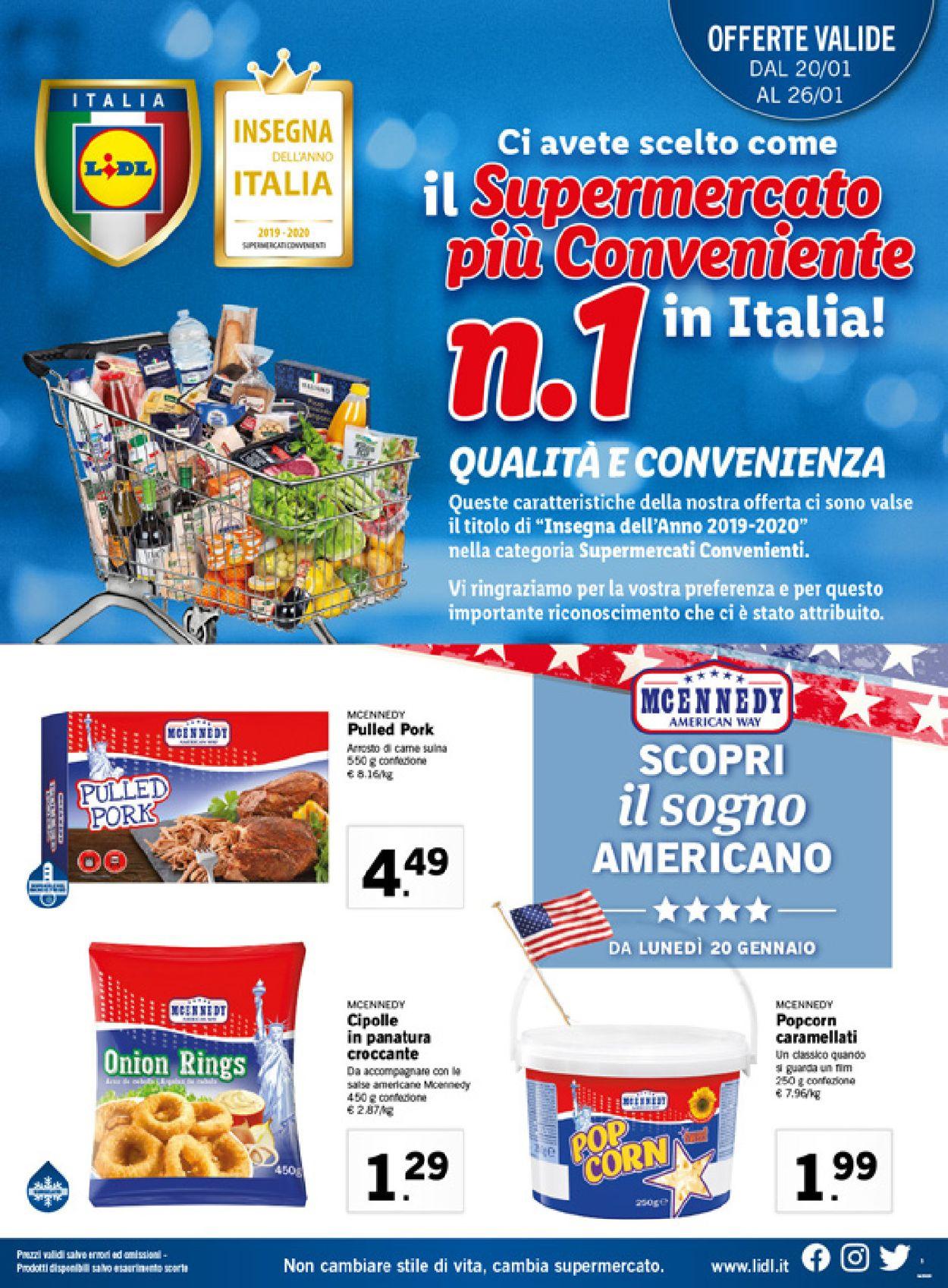 Volantino Lidl - Offerte 20/01-26/01/2020