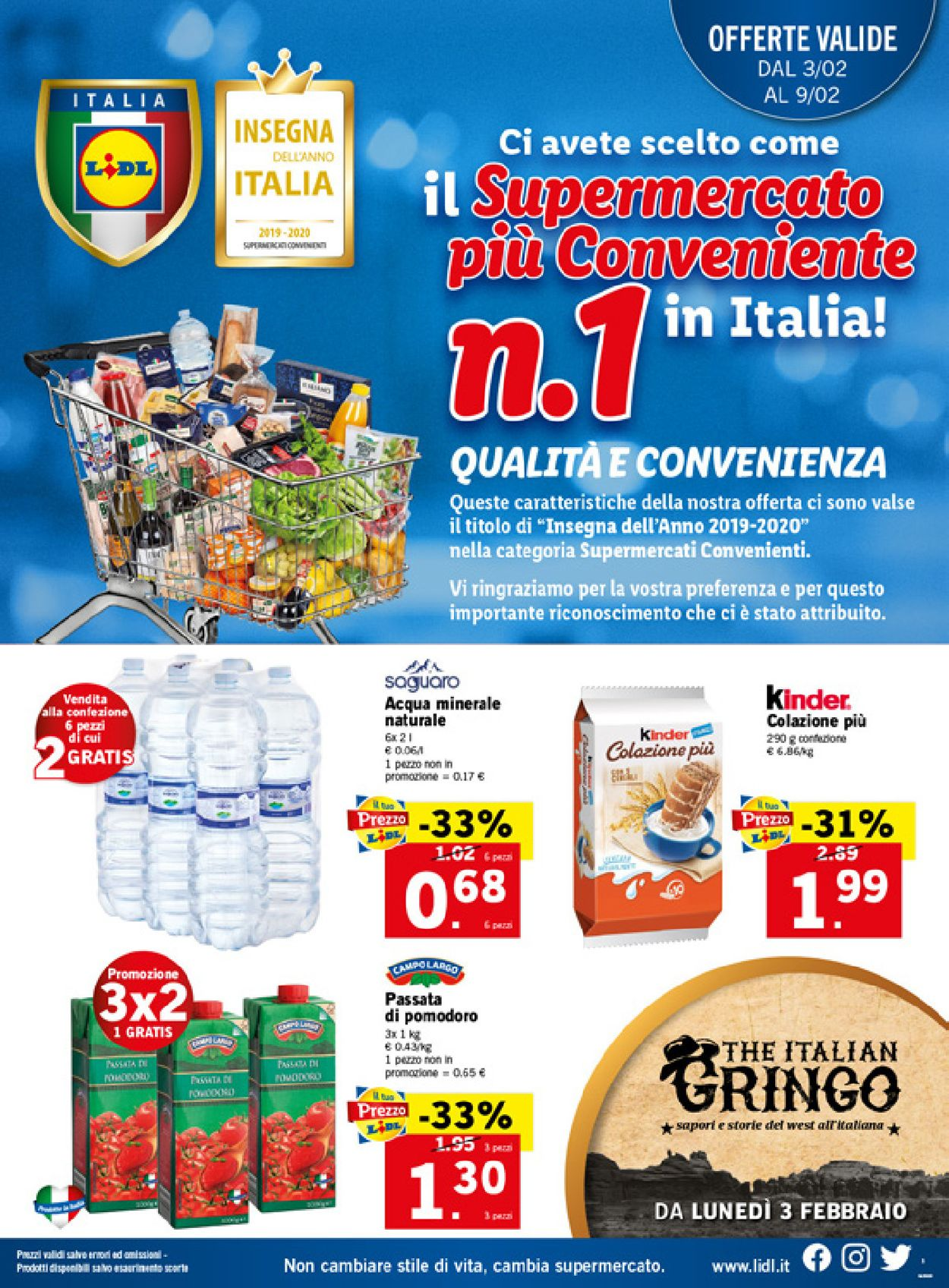 Volantino Lidl - Offerte 03/02-09/02/2020