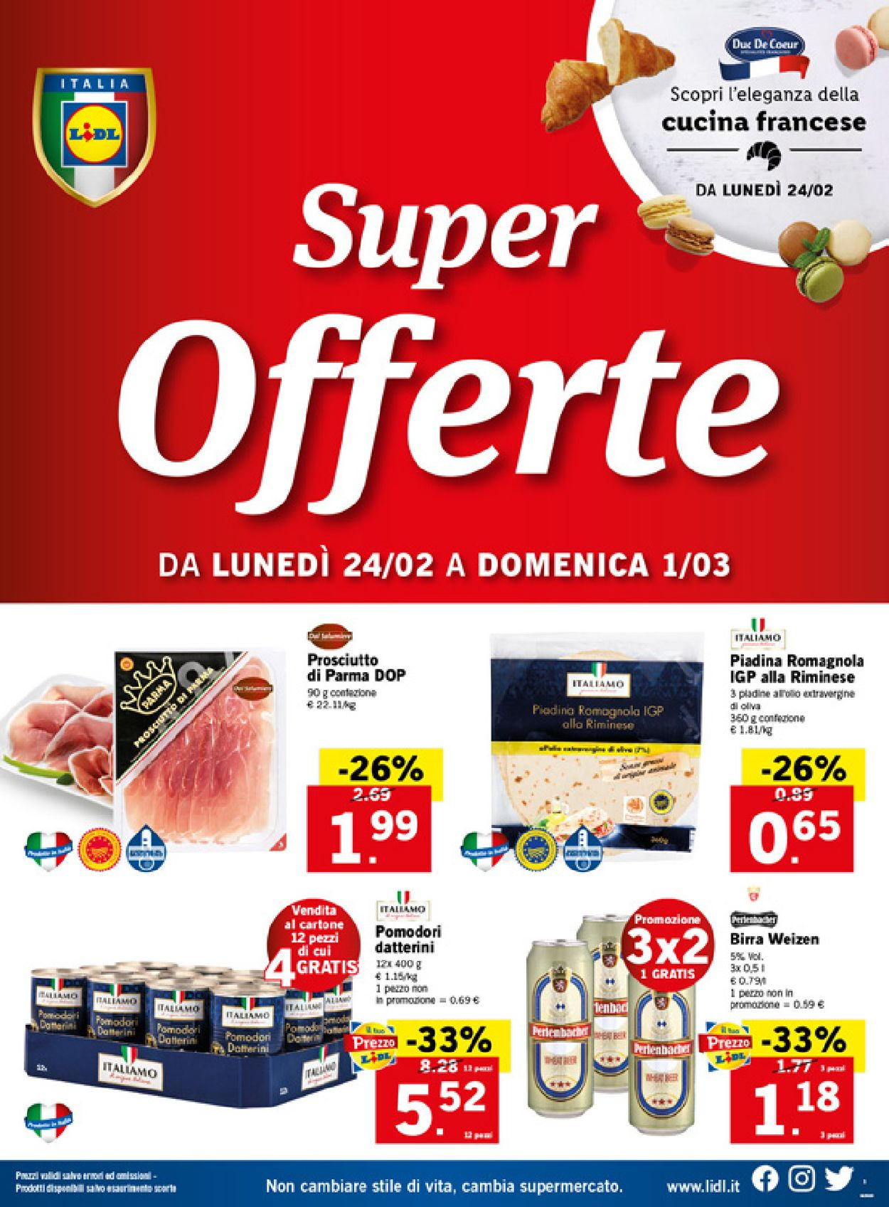 Volantino Lidl - Offerte 24/02-01/03/2020