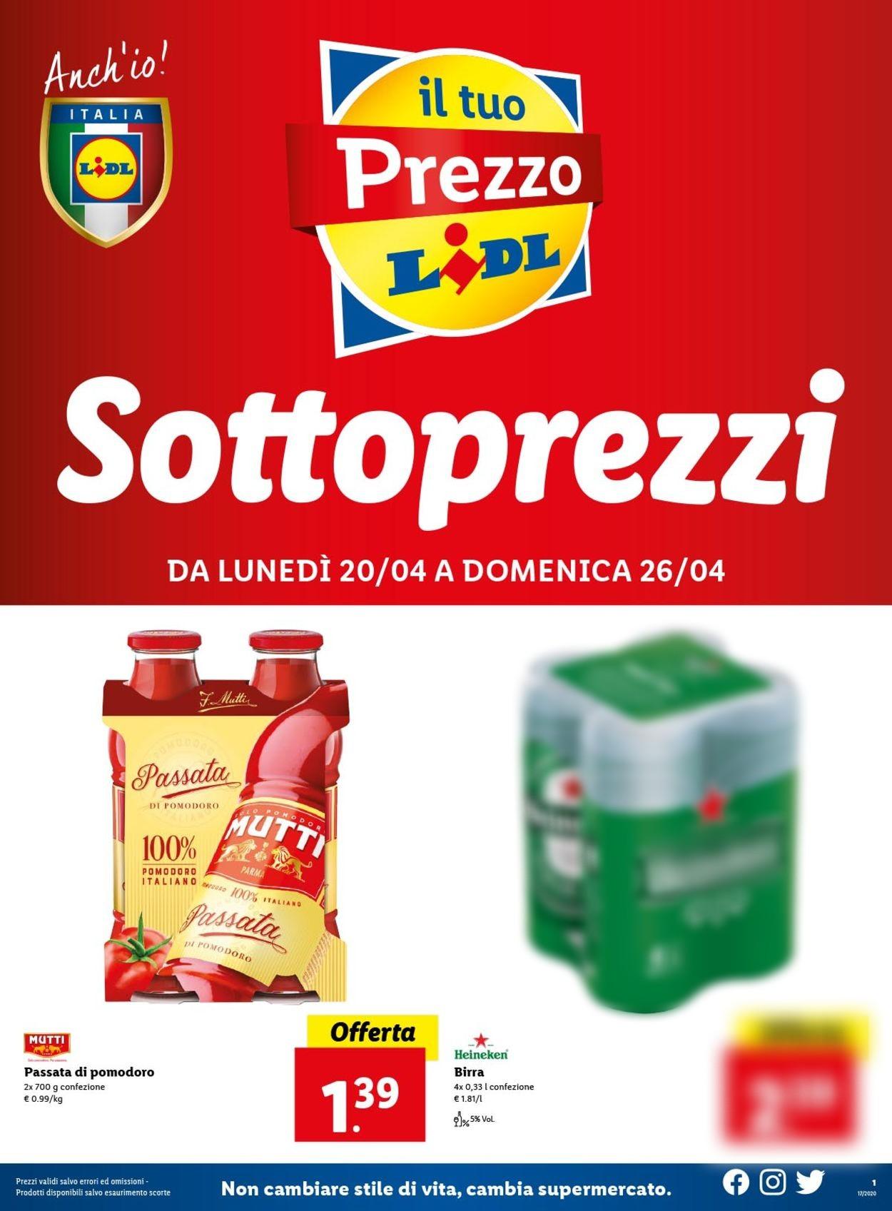 Volantino Lidl - Offerte 20/04-26/04/2020