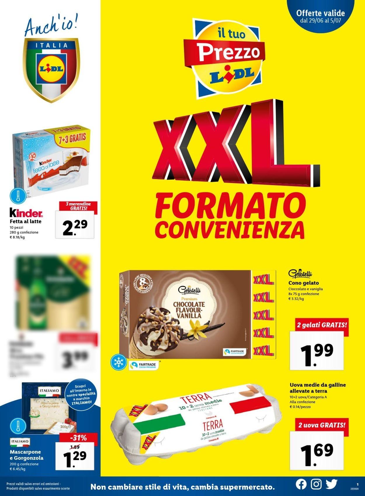 Volantino Lidl - Offerte 29/06-05/07/2020