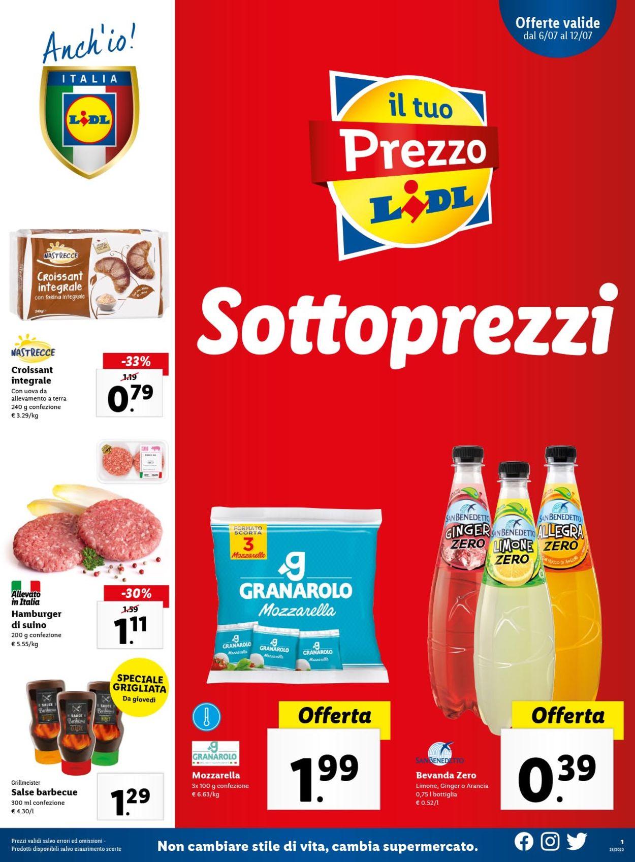 Volantino Lidl - Offerte 06/07-12/07/2020
