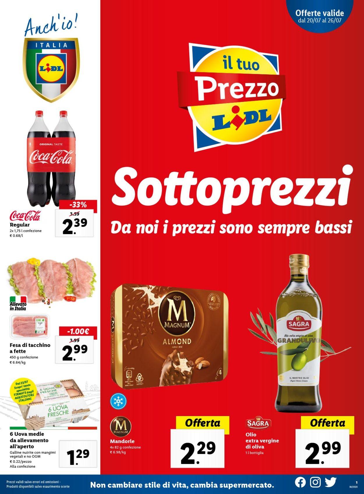 Volantino Lidl - Offerte 20/07-26/07/2020