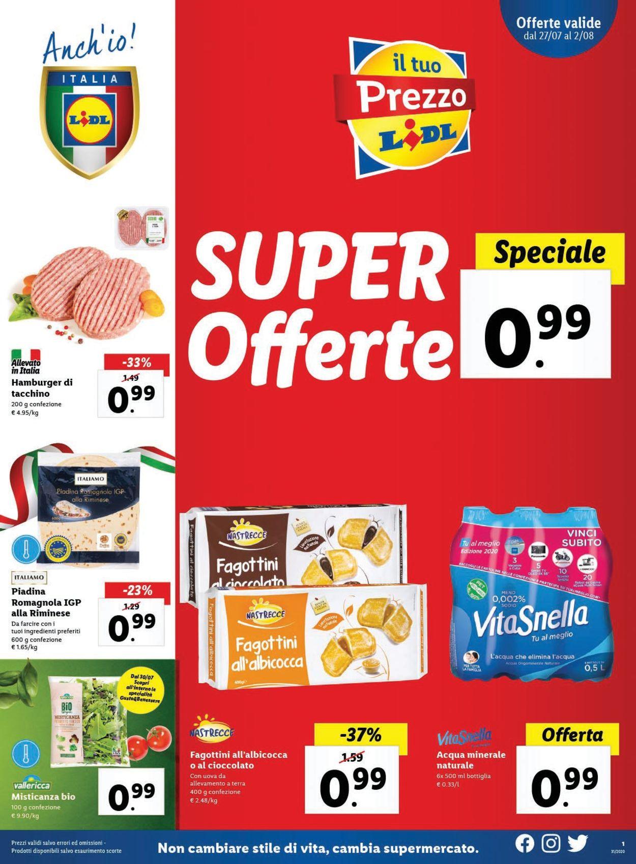 Volantino Lidl - Offerte 27/07-02/08/2020