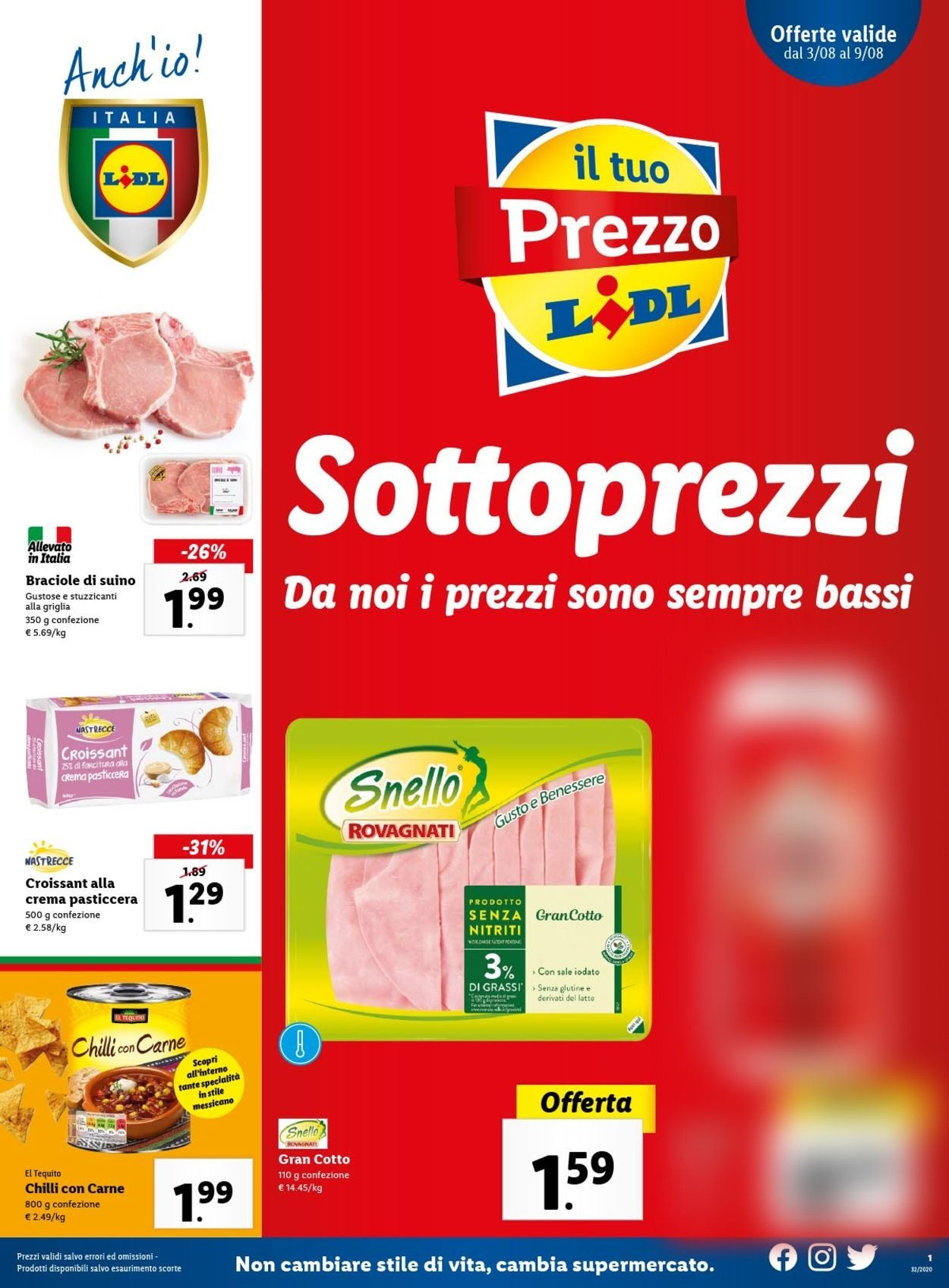 Volantino Lidl - Offerte 03/08-09/08/2020