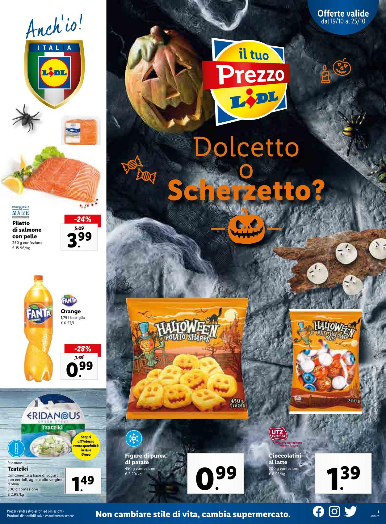 Volantino Lidl - Offerte 19/10-25/10/2020