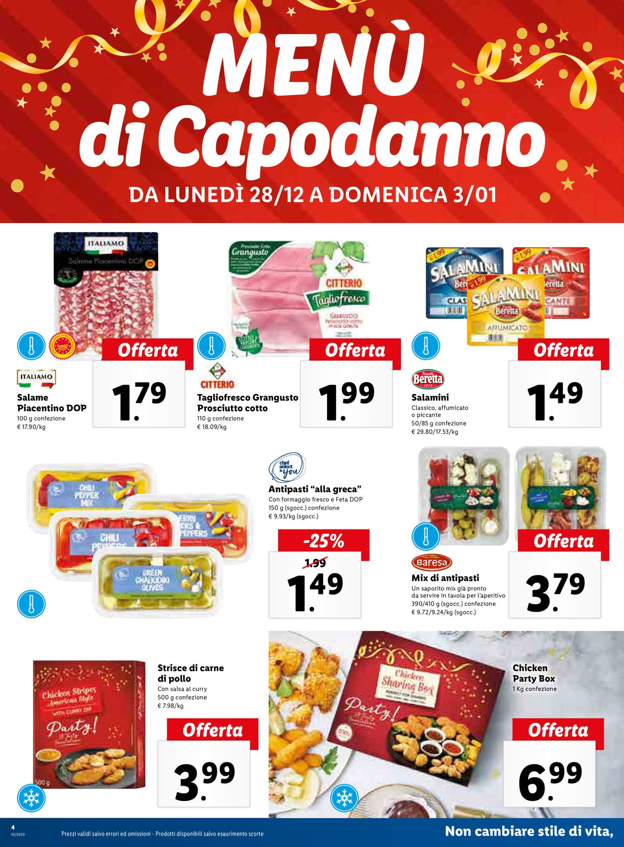 Volantino Lidl Buone Feste! - Offerte 28/12-03/01/2021 (Pagina 4)