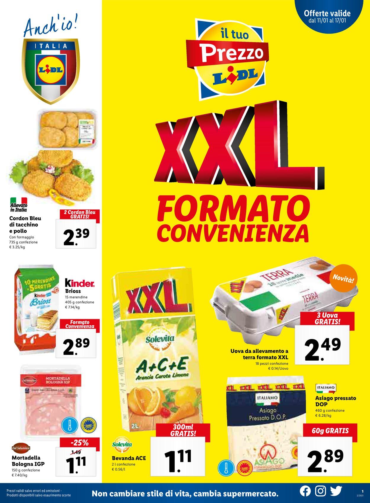 Volantino Lidl - Offerte 11/01-17/01/2021