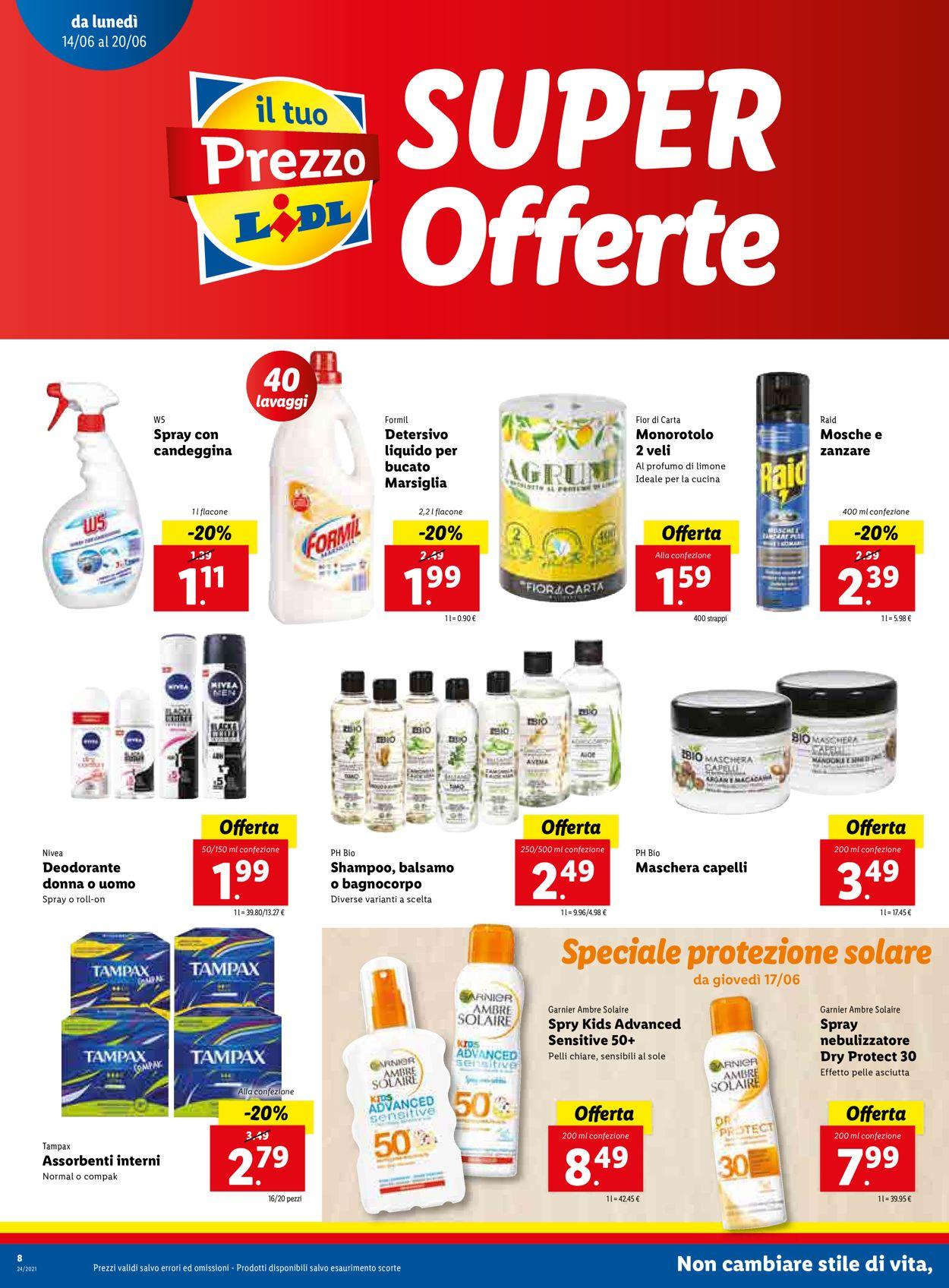 Volantino Lidl - Offerte 14/06-20/06/2021 (Pagina 8)