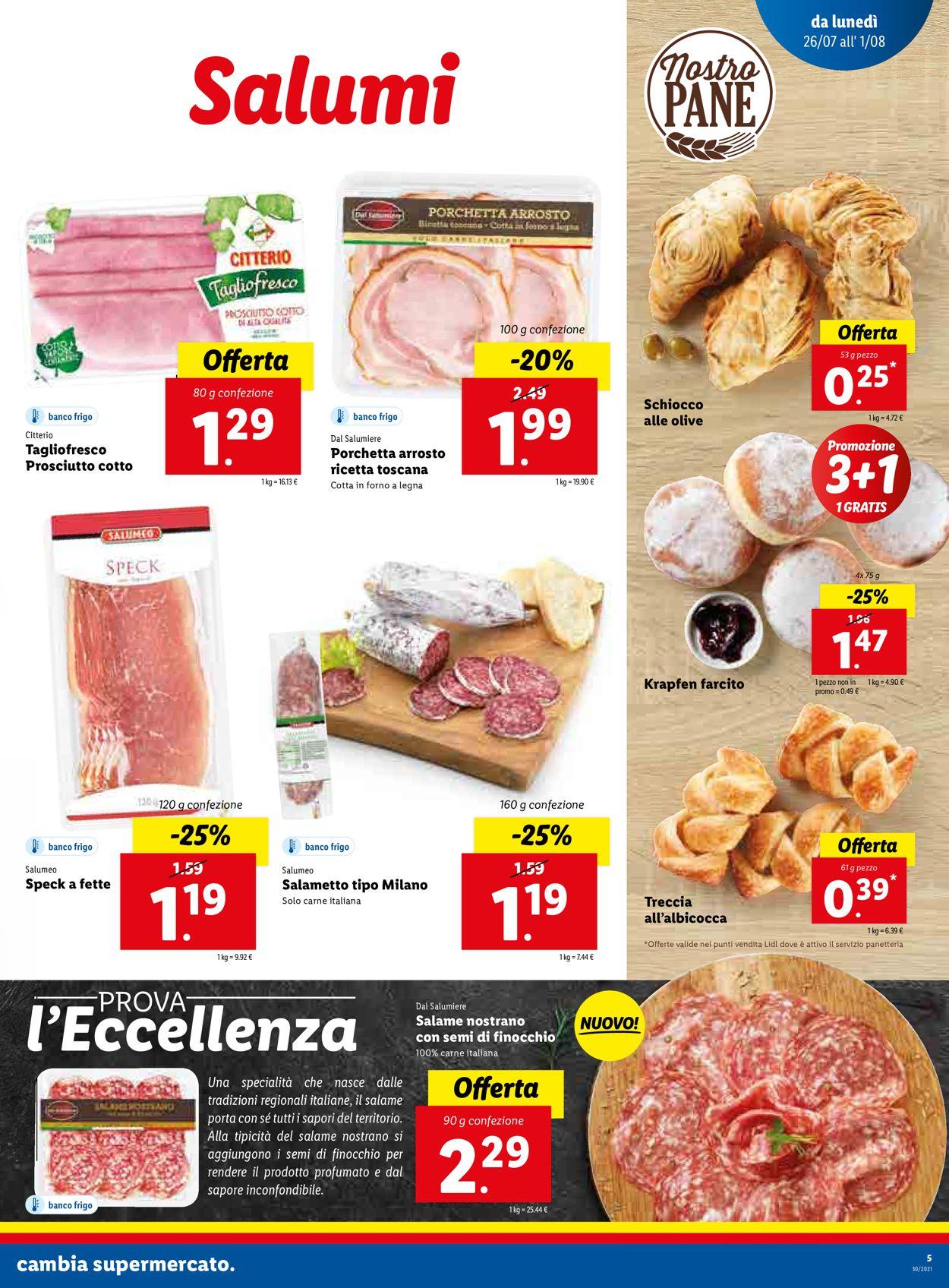 Volantino Lidl - Offerte 26/07-01/08/2021 (Pagina 5)