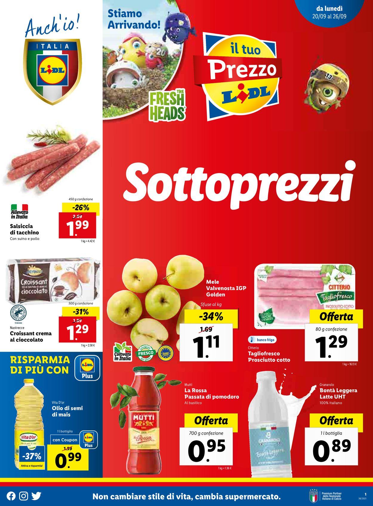 Volantino Lidl - Offerte 20/09-26/09/2021