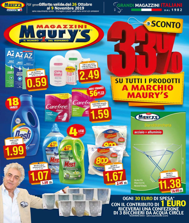 Volantino Maury's - Offerte 26/10-09/11/2019