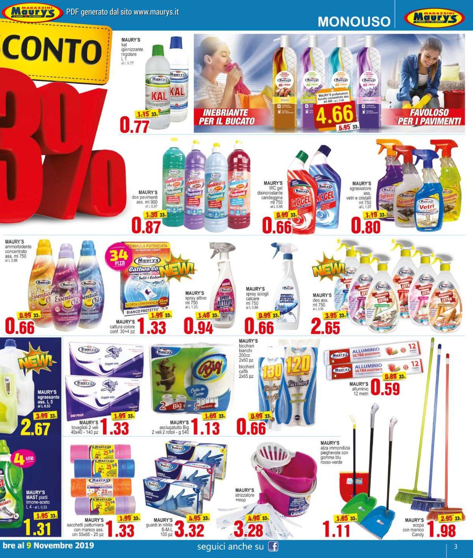 Volantino Maury's - Offerte 26/10-09/11/2019 (Pagina 3)