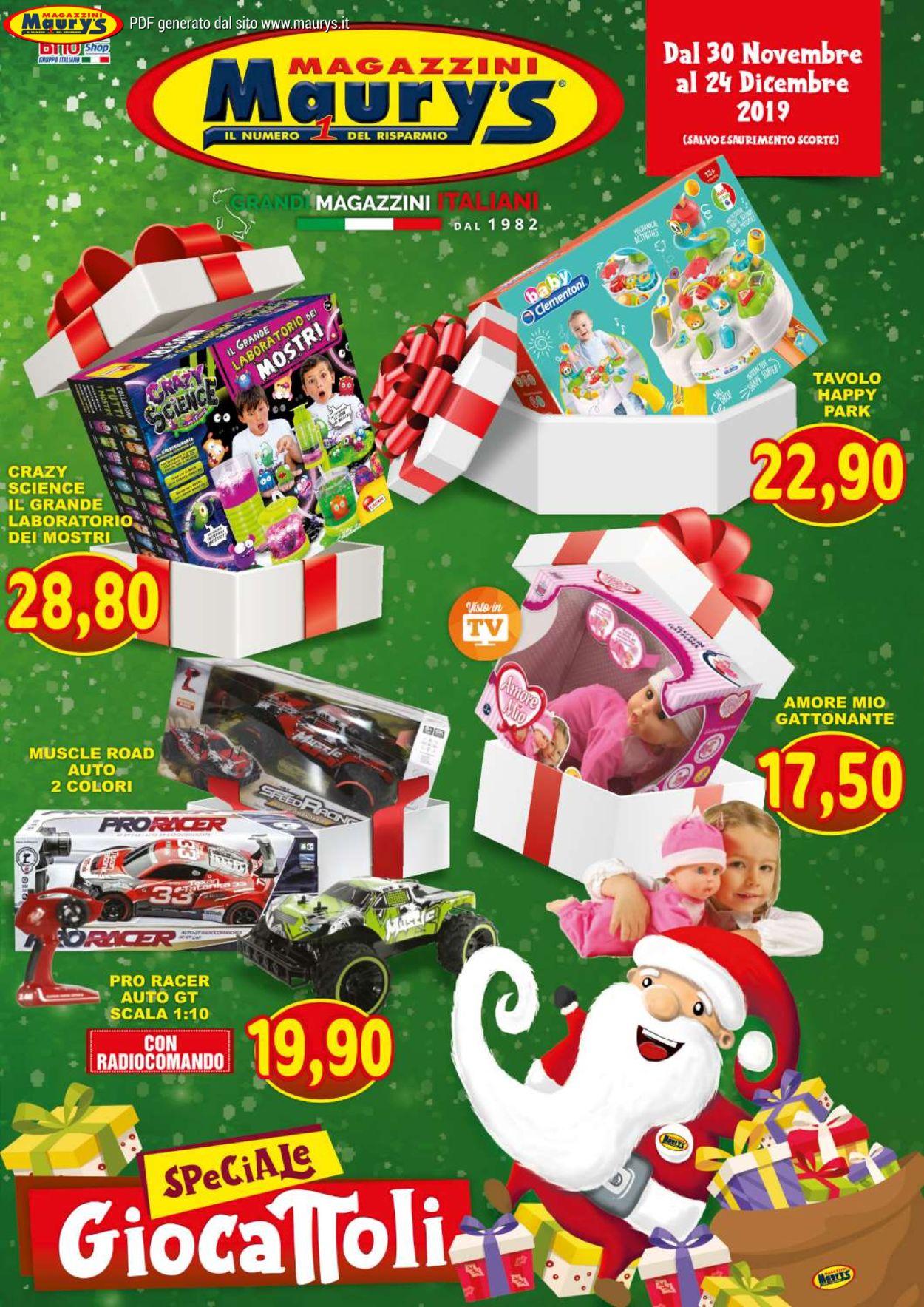 Volantino Maury'sIl volantino natalizio di - Offerte 30/11-24/12/2019