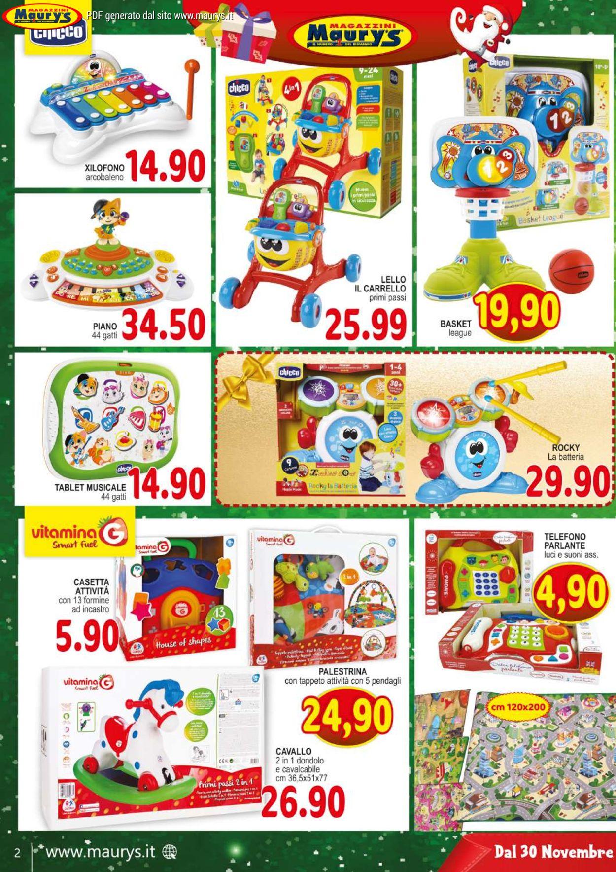 Volantino Maury'sIl volantino natalizio di - Offerte 30/11-24/12/2019 (Pagina 2)