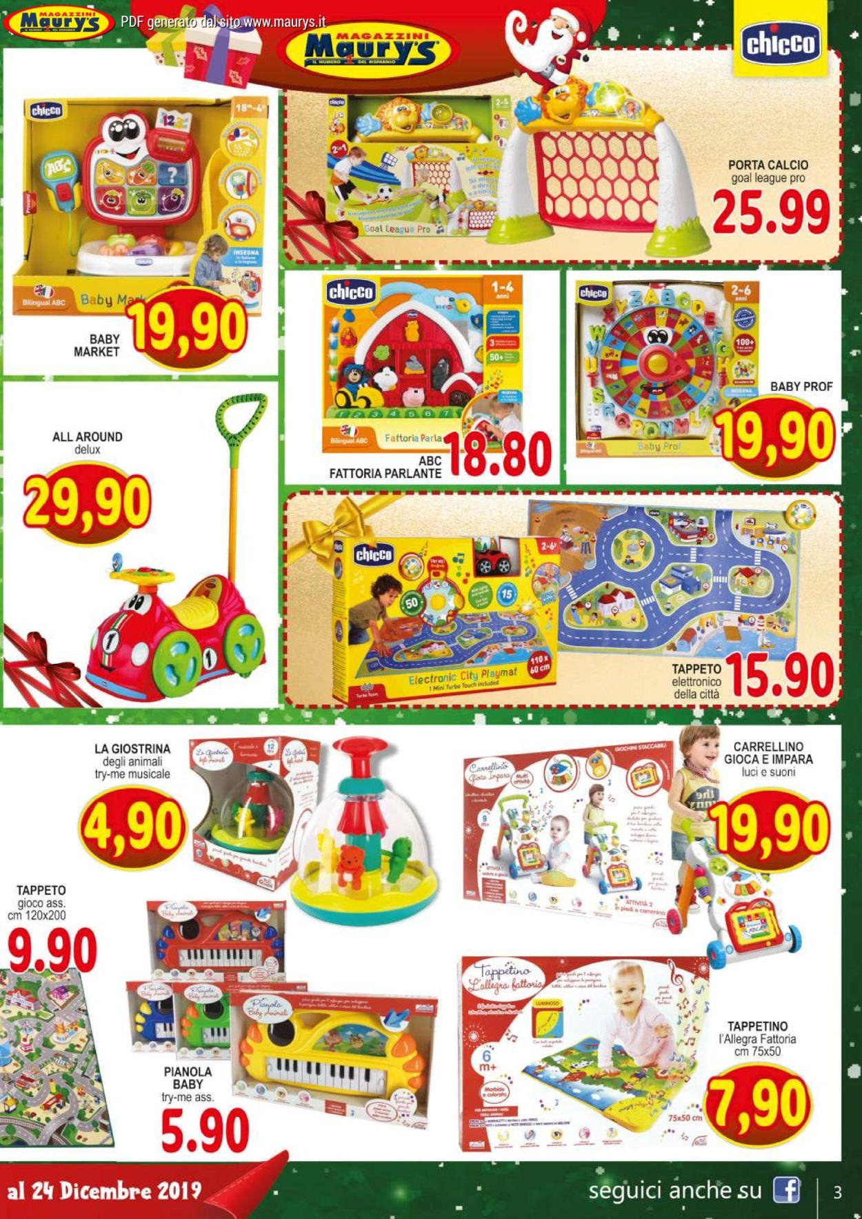 Volantino Maury'sIl volantino natalizio di - Offerte 30/11-24/12/2019 (Pagina 3)