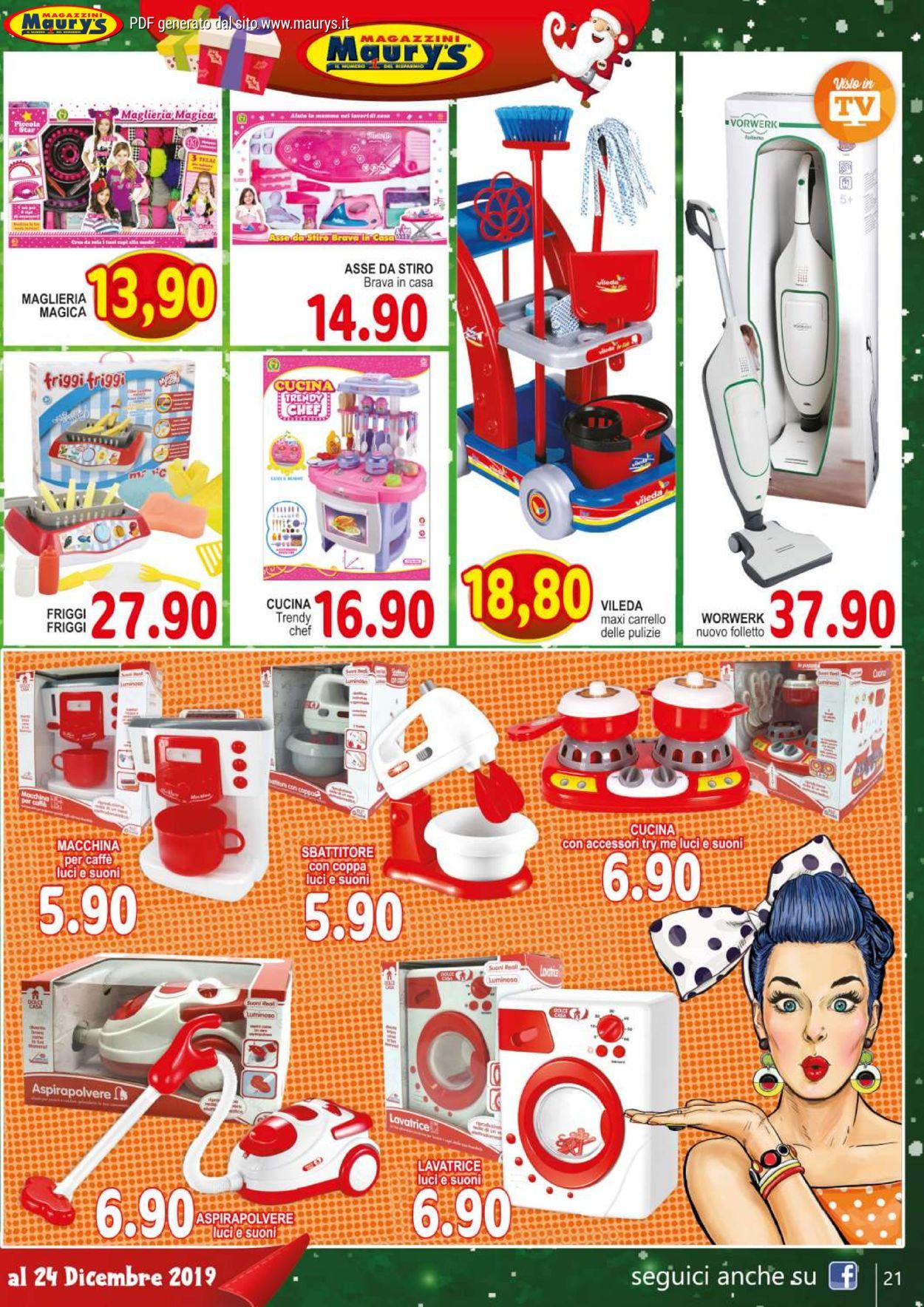 Volantino Maury'sIl volantino natalizio di - Offerte 30/11-24/12/2019 (Pagina 21)