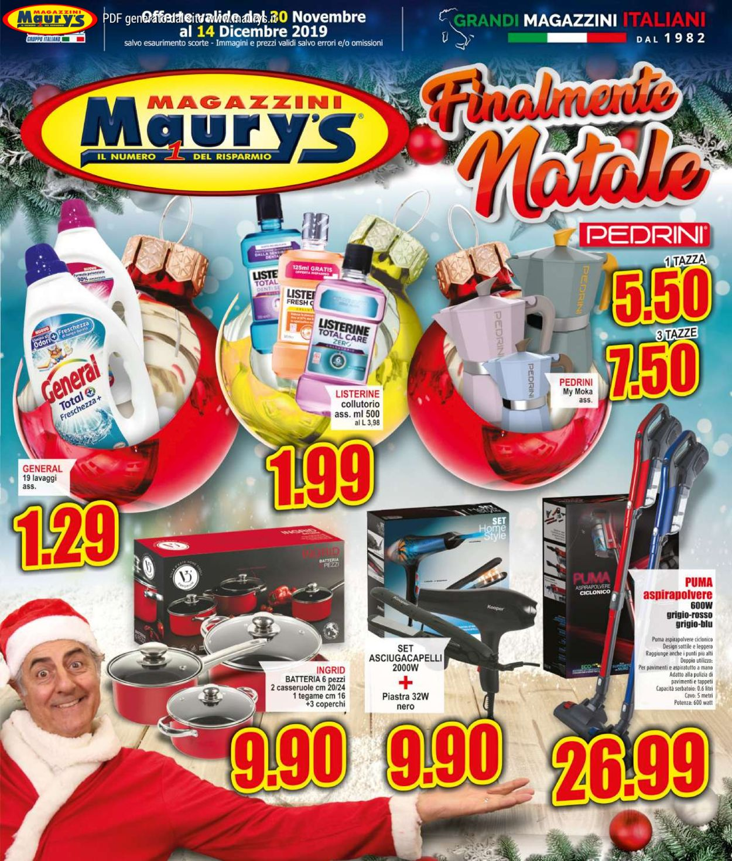 Volantino Maury'sIl volantino natalizio di - Offerte 30/11-14/12/2019