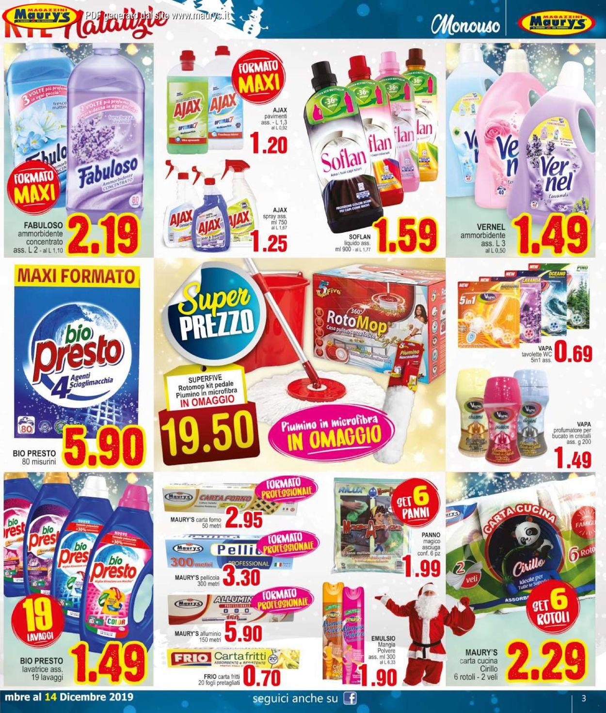 Volantino Maury'sIl volantino natalizio di - Offerte 30/11-14/12/2019 (Pagina 3)