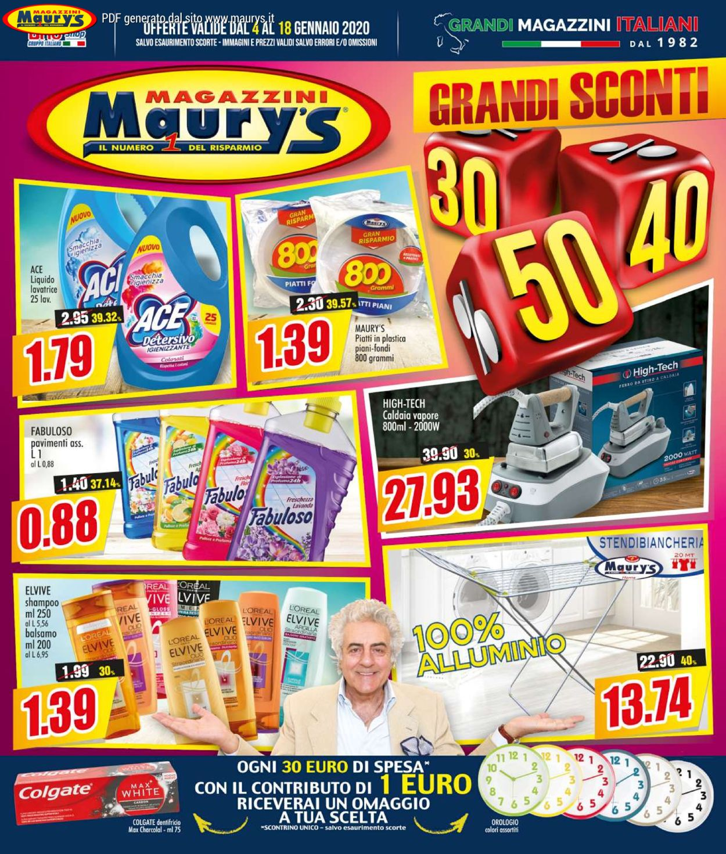 Volantino Maury's - Offerte 04/01-18/01/2020