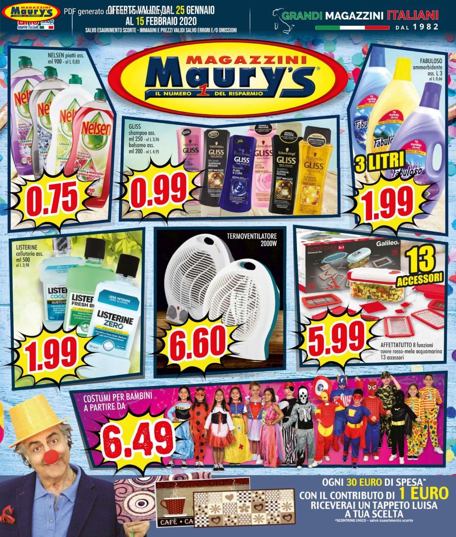 Volantino Maury's - Offerte 25/01-15/02/2020