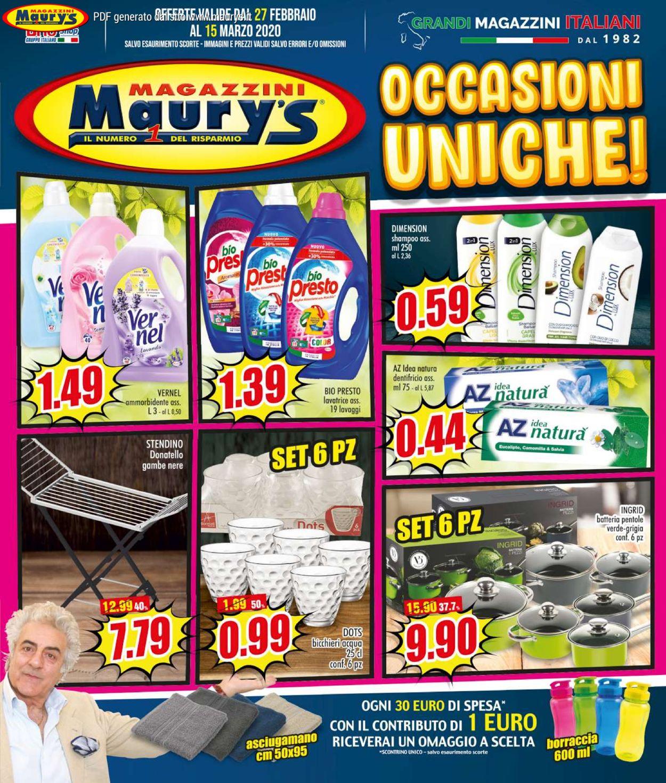 Volantino Maury's - Offerte 27/02-15/03/2020