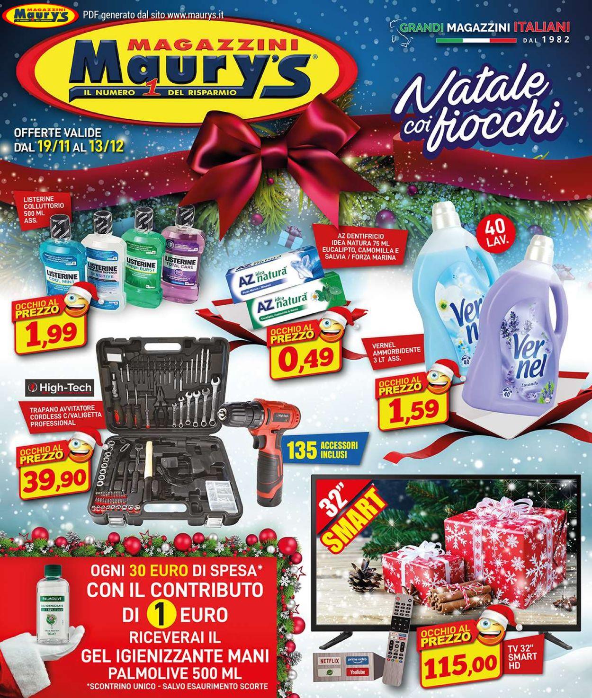 Volantino Maury's - Natale 2020 - Offerte 19/11-13/12/2020