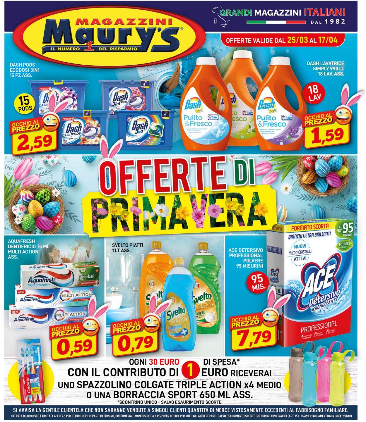 Volantino Maury's - Offerte 25/03-17/04/2021