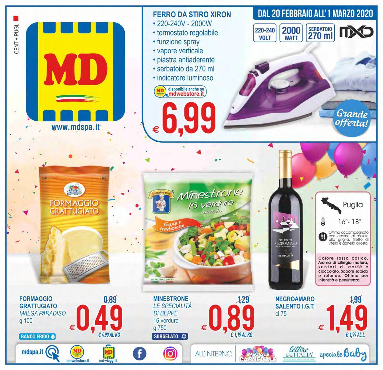 Volantino MD Discount - Offerte 20/02-01/03/2020