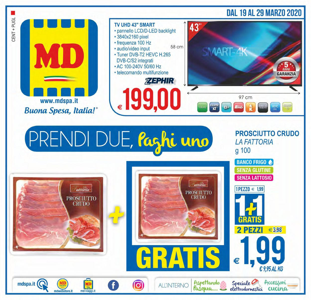 Volantino MD Discount - Offerte 19/03-29/03/2020