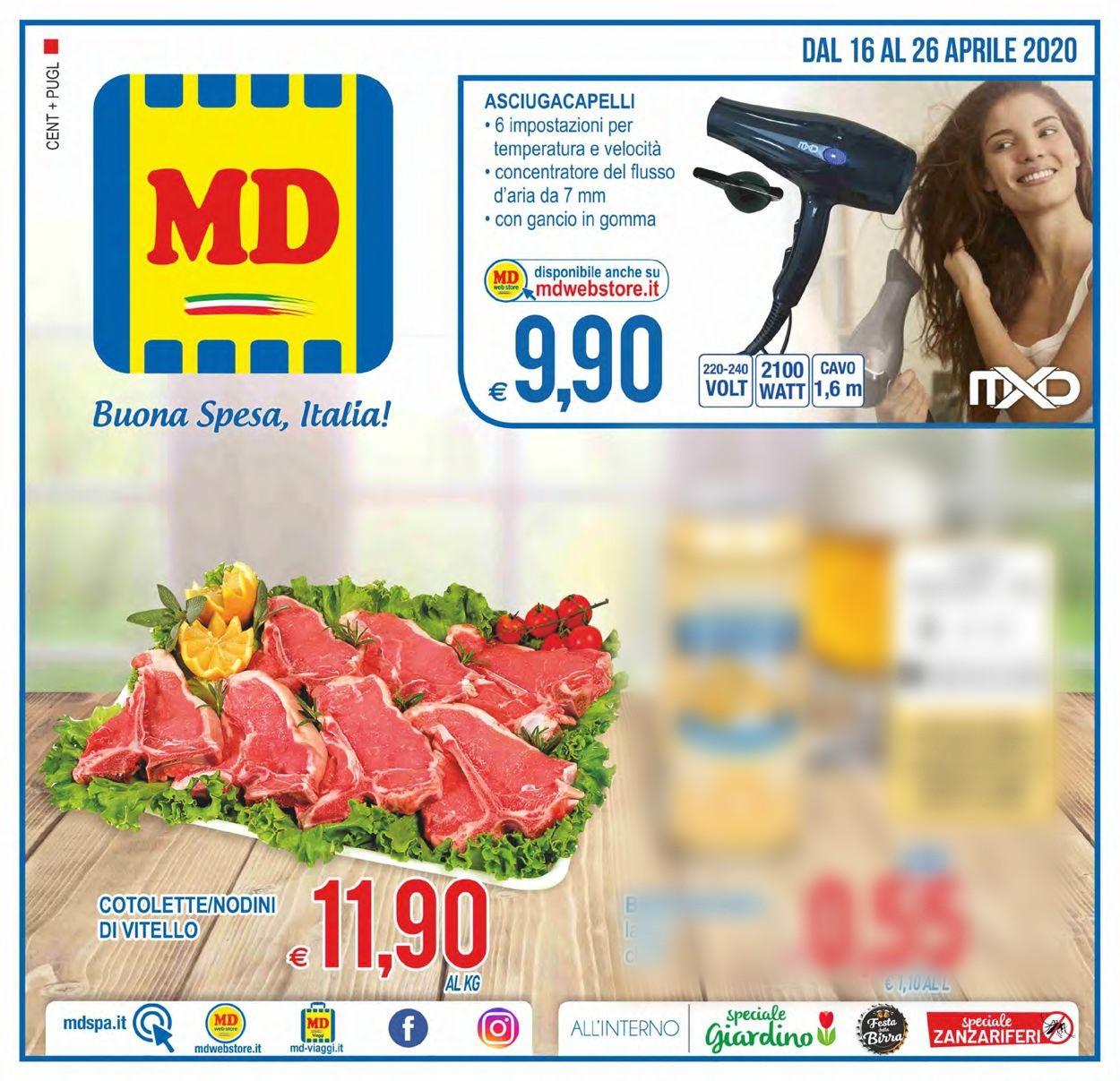 Volantino MD Discount - Offerte 16/04-26/04/2020