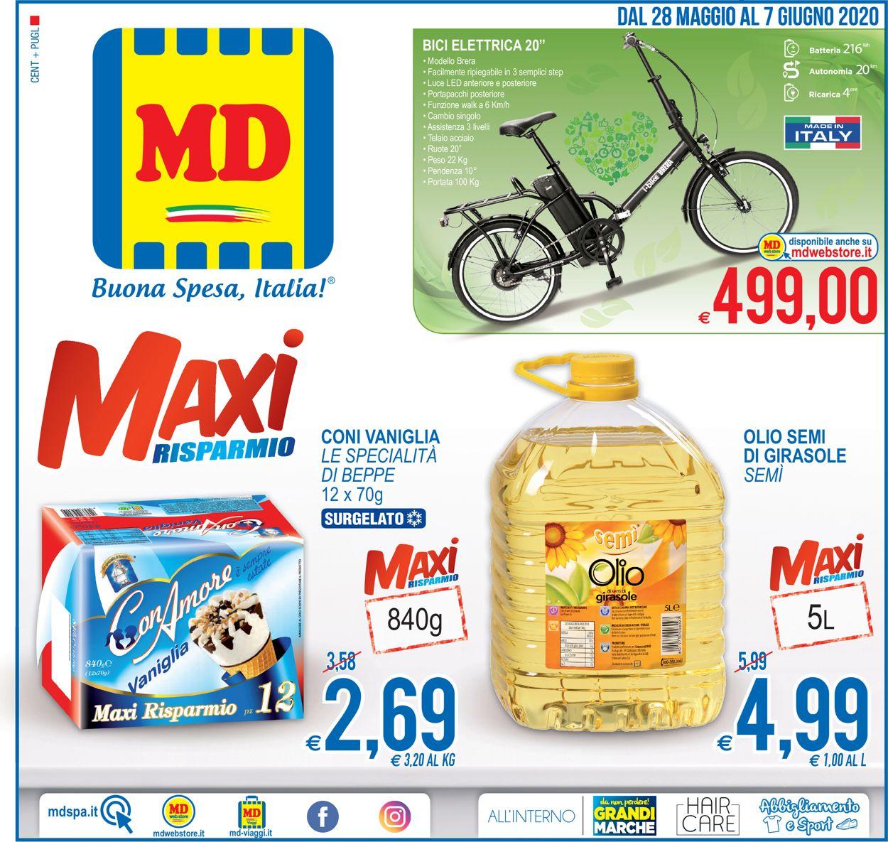 Volantino MD Discount - Offerte 28/05-07/06/2020