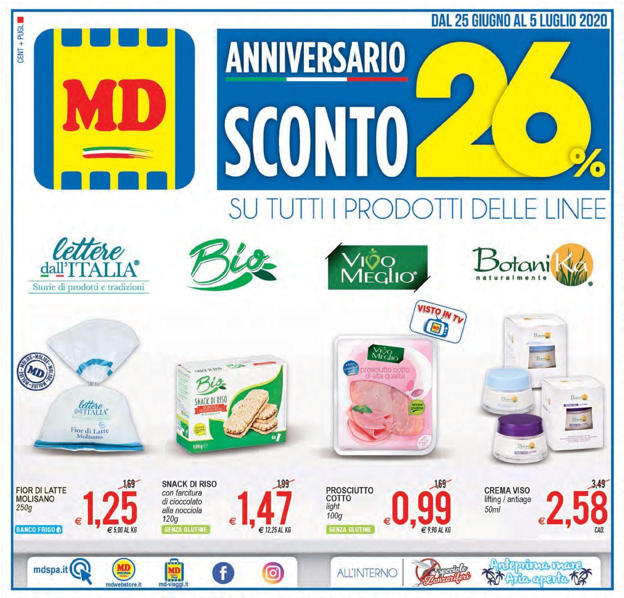 Volantino MD Discount - Offerte 25/06-05/07/2020
