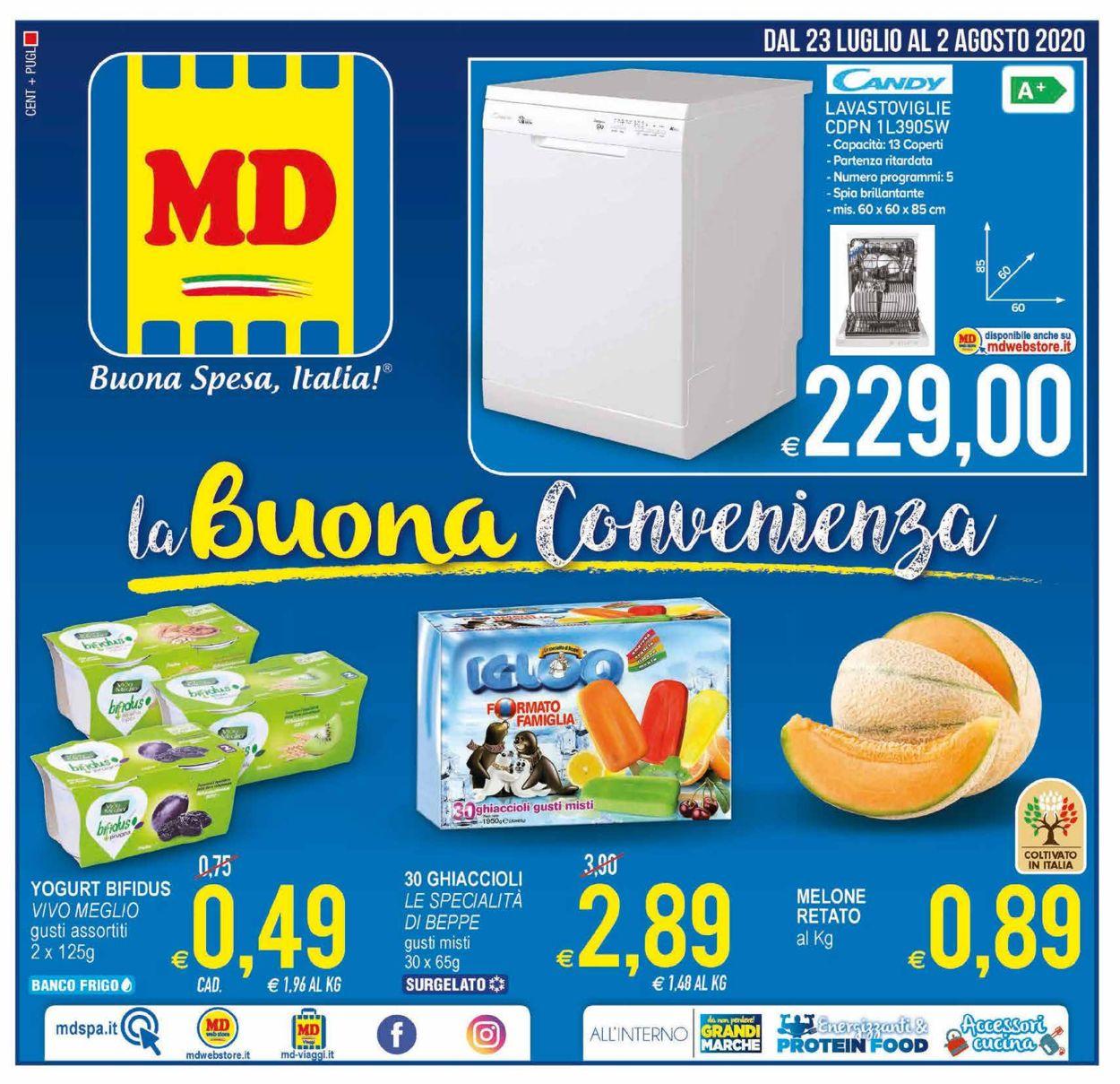 Volantino MD Discount - Offerte 23/07-02/08/2020