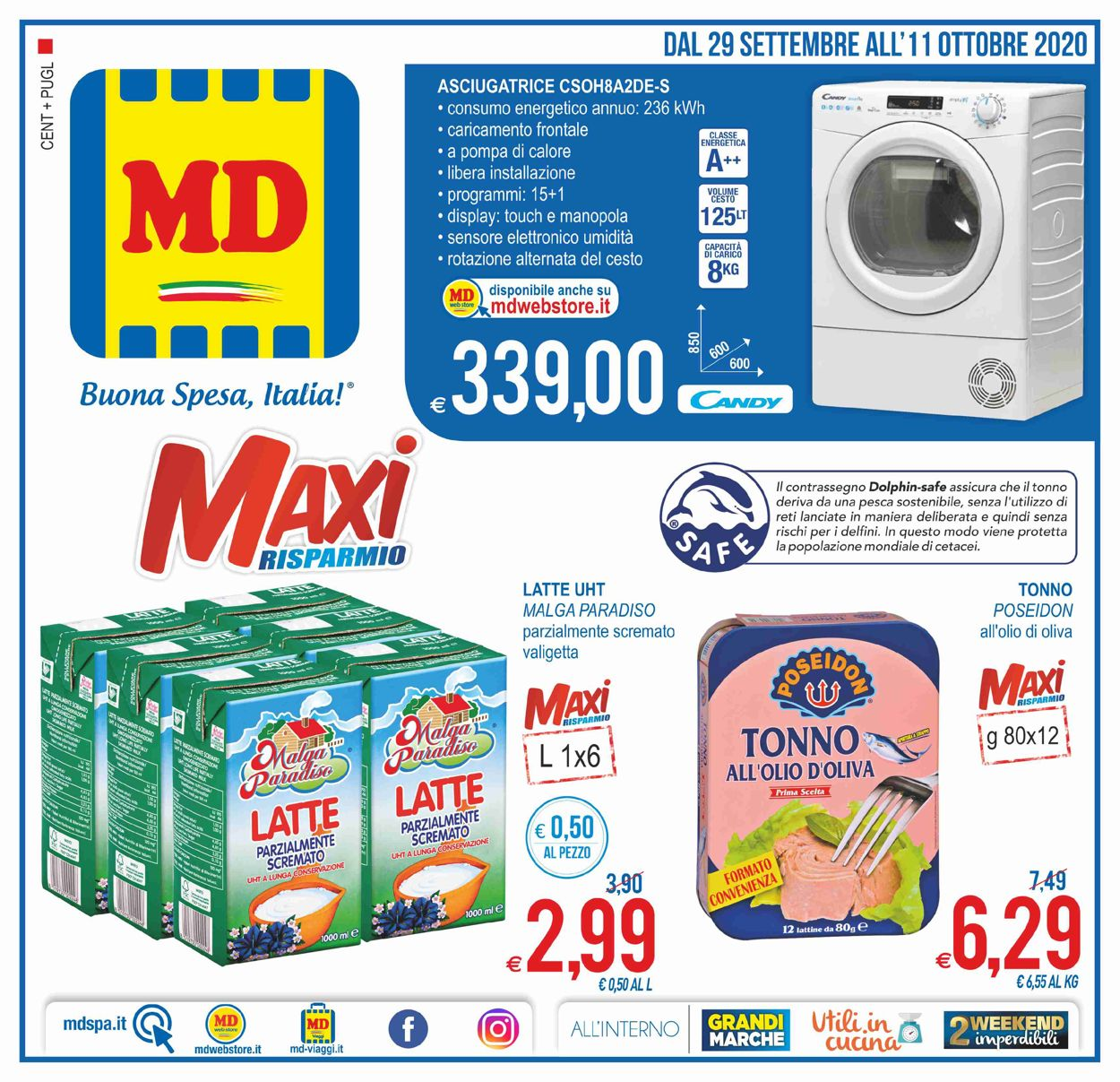 Volantino MD Discount - Offerte 28/09-11/10/2020