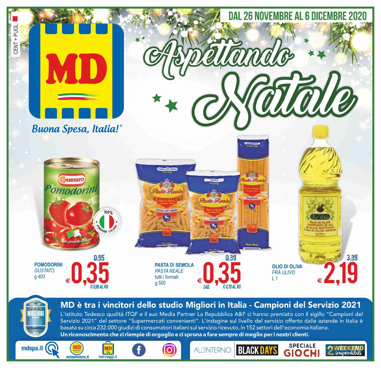Volantino MD Discount - Black Friday 2020 - Offerte 26/11-06/12/2020