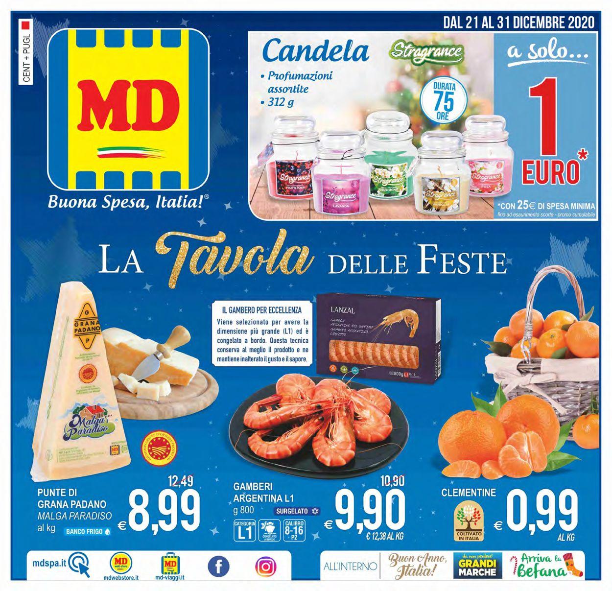 Volantino MD Discount - Natale 2020 - Offerte 21/12-31/12/2020