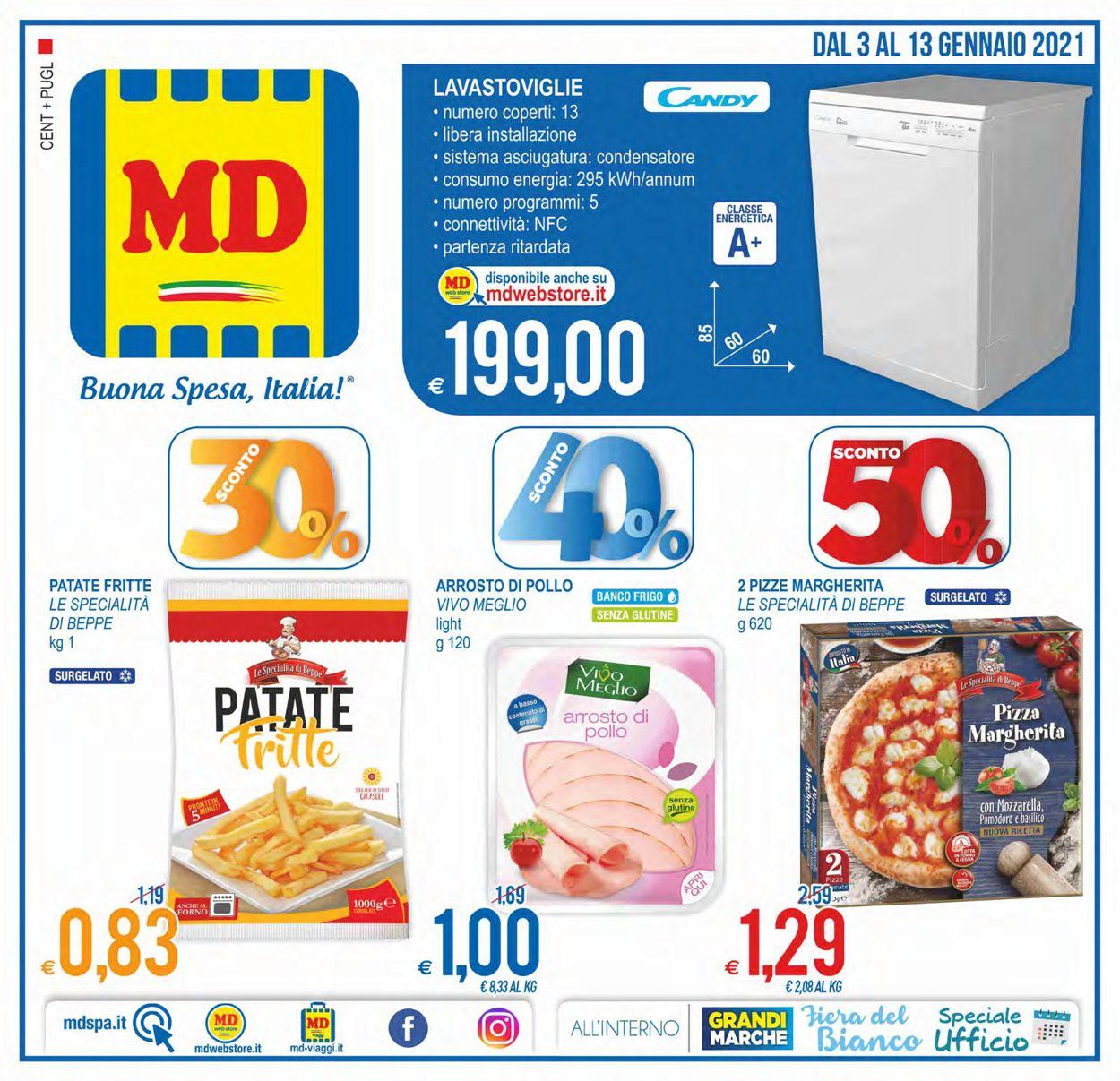Volantino MD Discount - Offerte 03/01-13/01/2021
