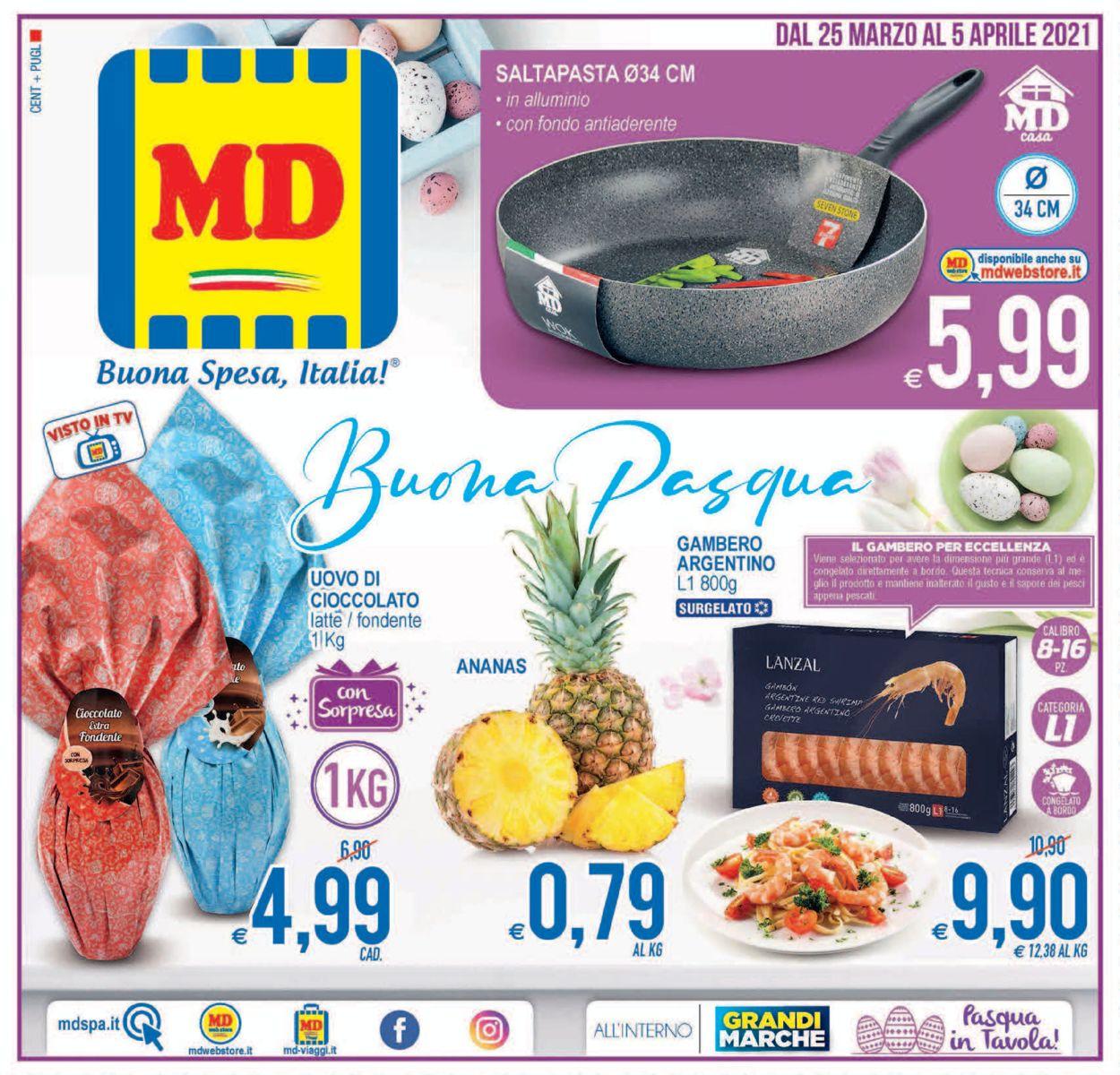 Volantino MD Discount - Pasqua 2021! - Offerte 25/03-05/04/2021