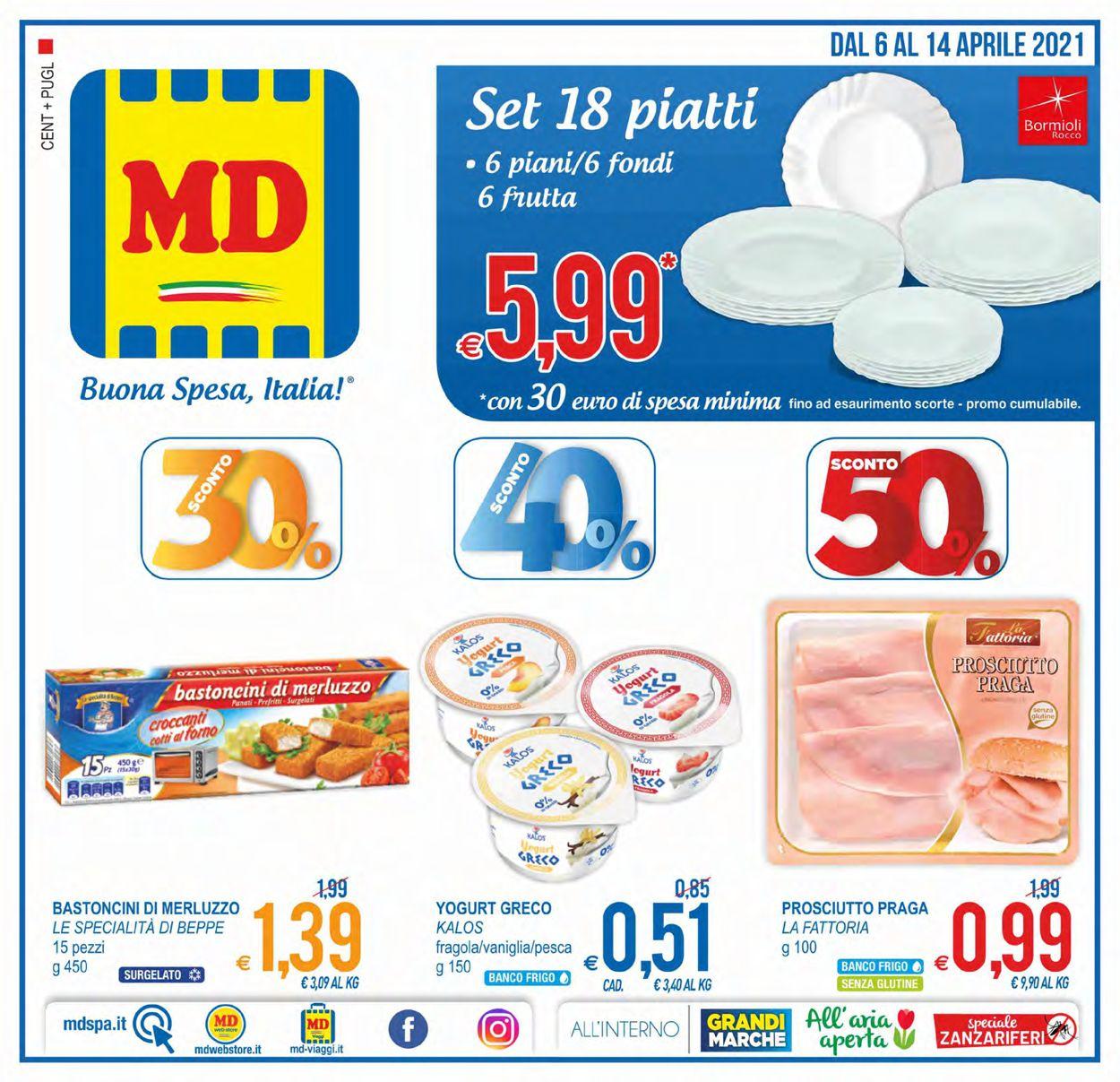 Volantino MD Discount - Offerte 06/04-14/04/2021