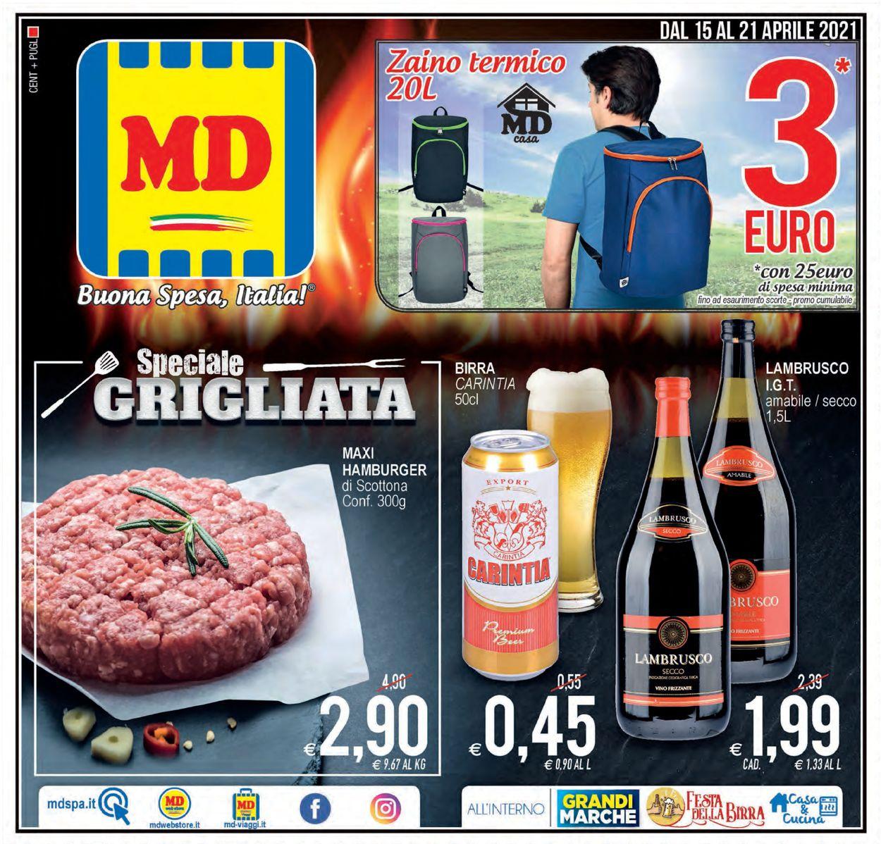Volantino MD Discount - Offerte 15/04-21/04/2021