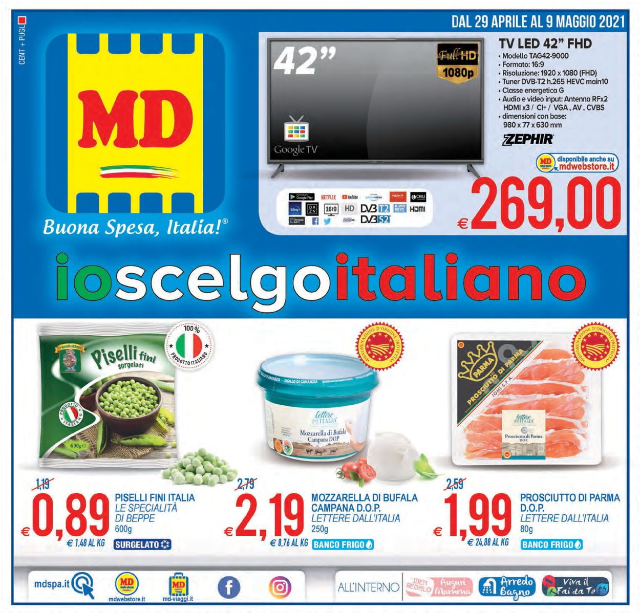 Volantino MD Discount - Offerte 29/04-09/05/2021