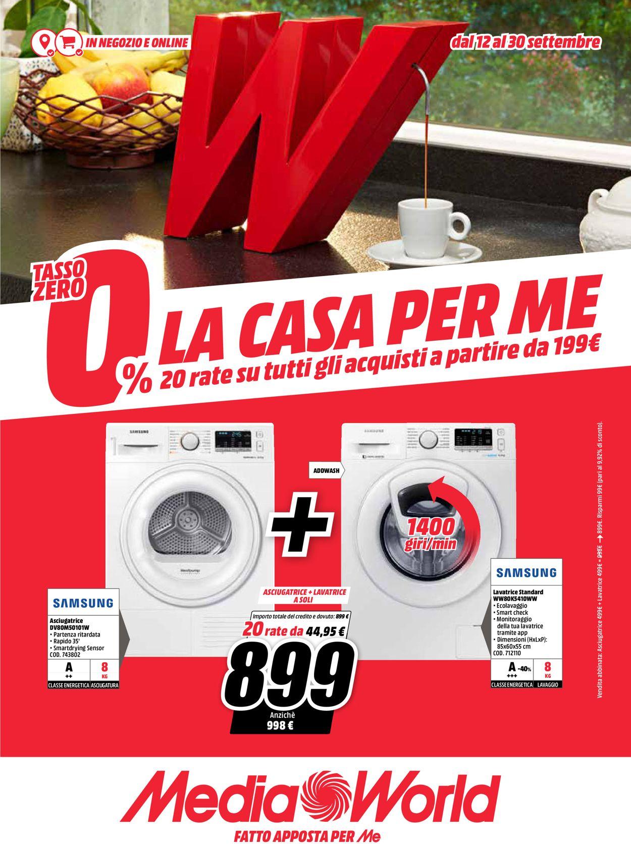 Volantino Media World - Offerte 12/09-30/09/2019