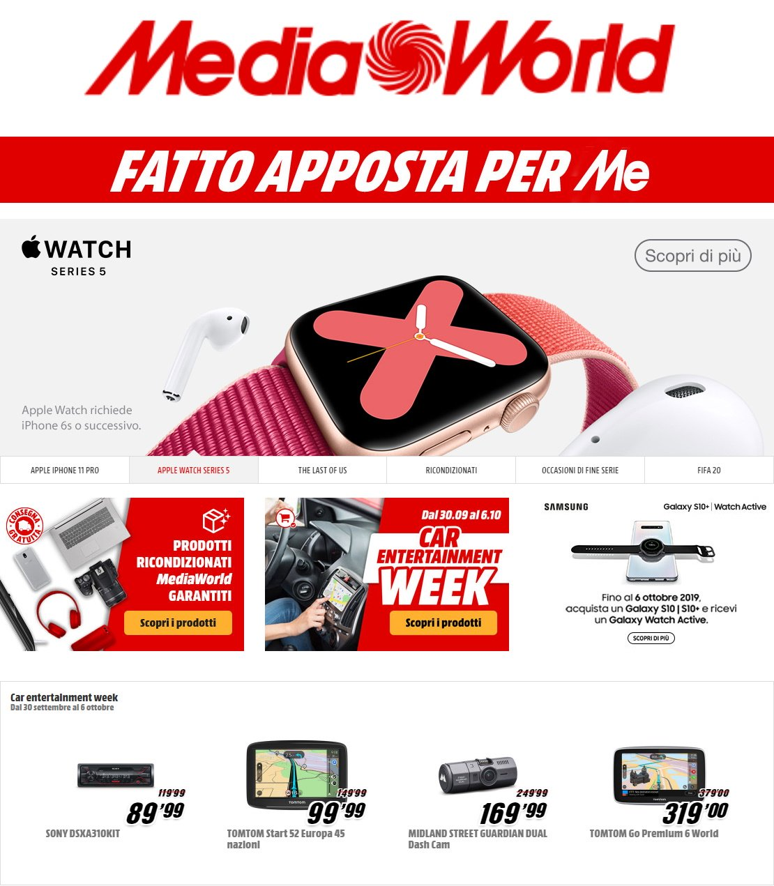 Volantino Media World - Offerte 01/10-07/10/2019