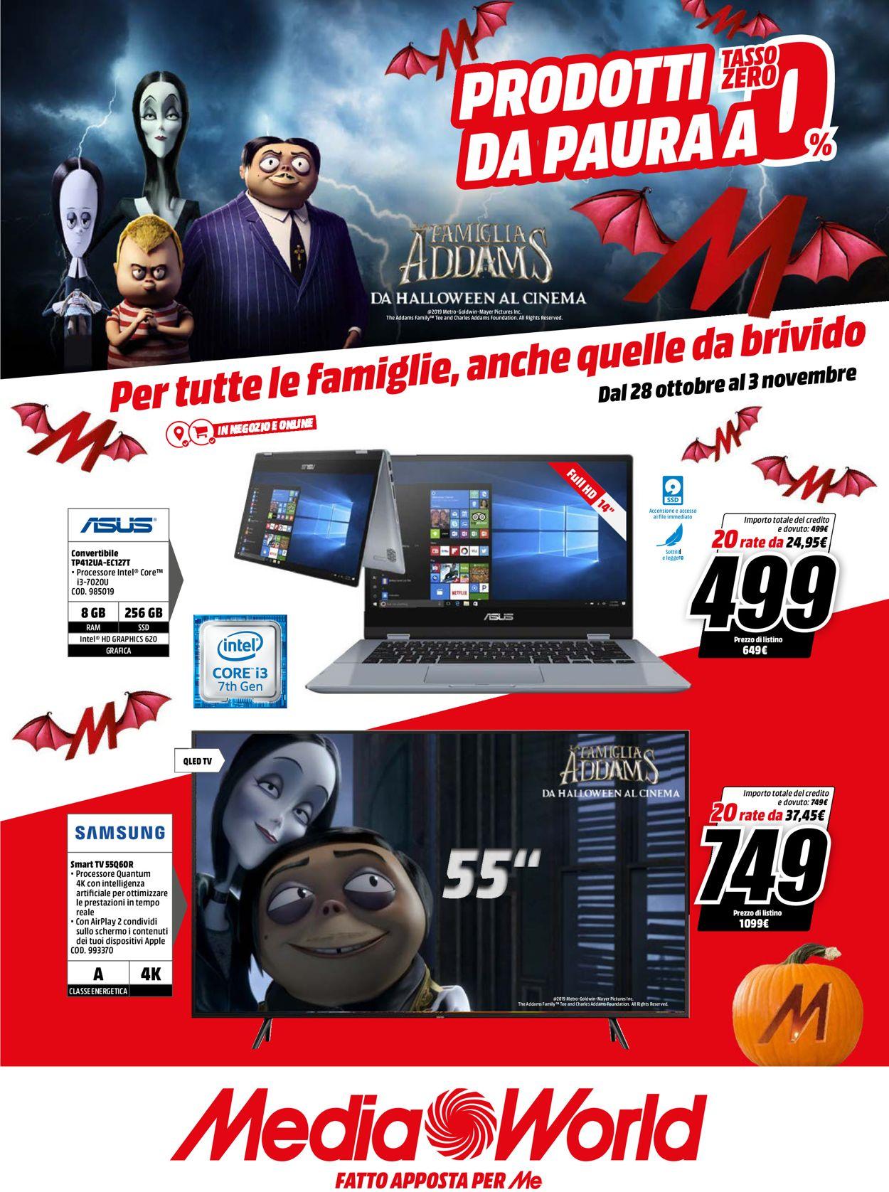 Volantino Media World - Offerte 28/10-03/11/2019